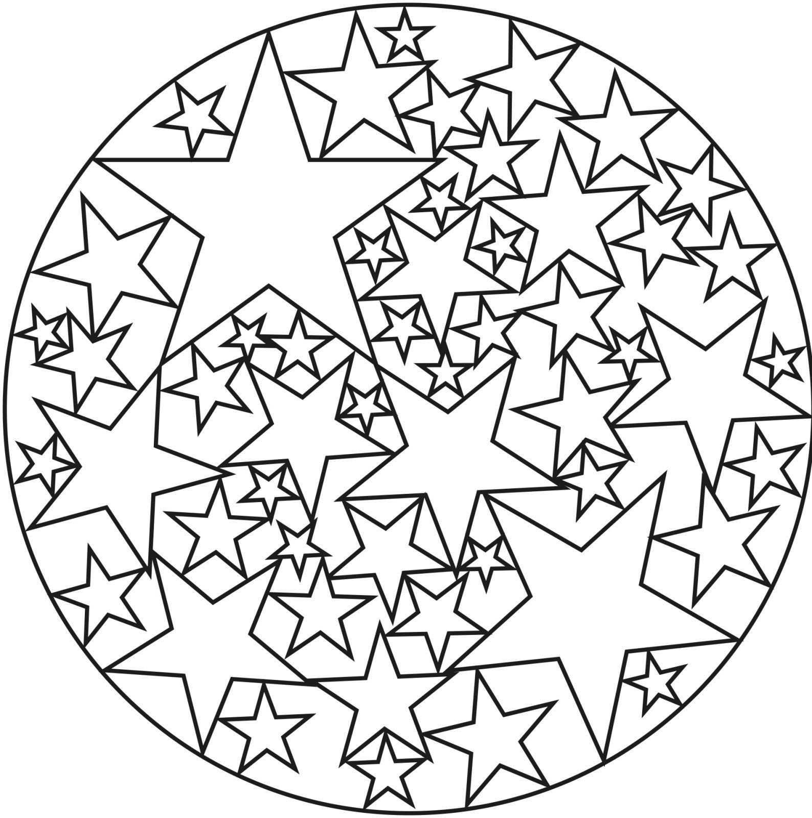 Coloriage Gratuit Mandala Facile | Coloriages À Imprimer tout Mandala Facile À Imprimer