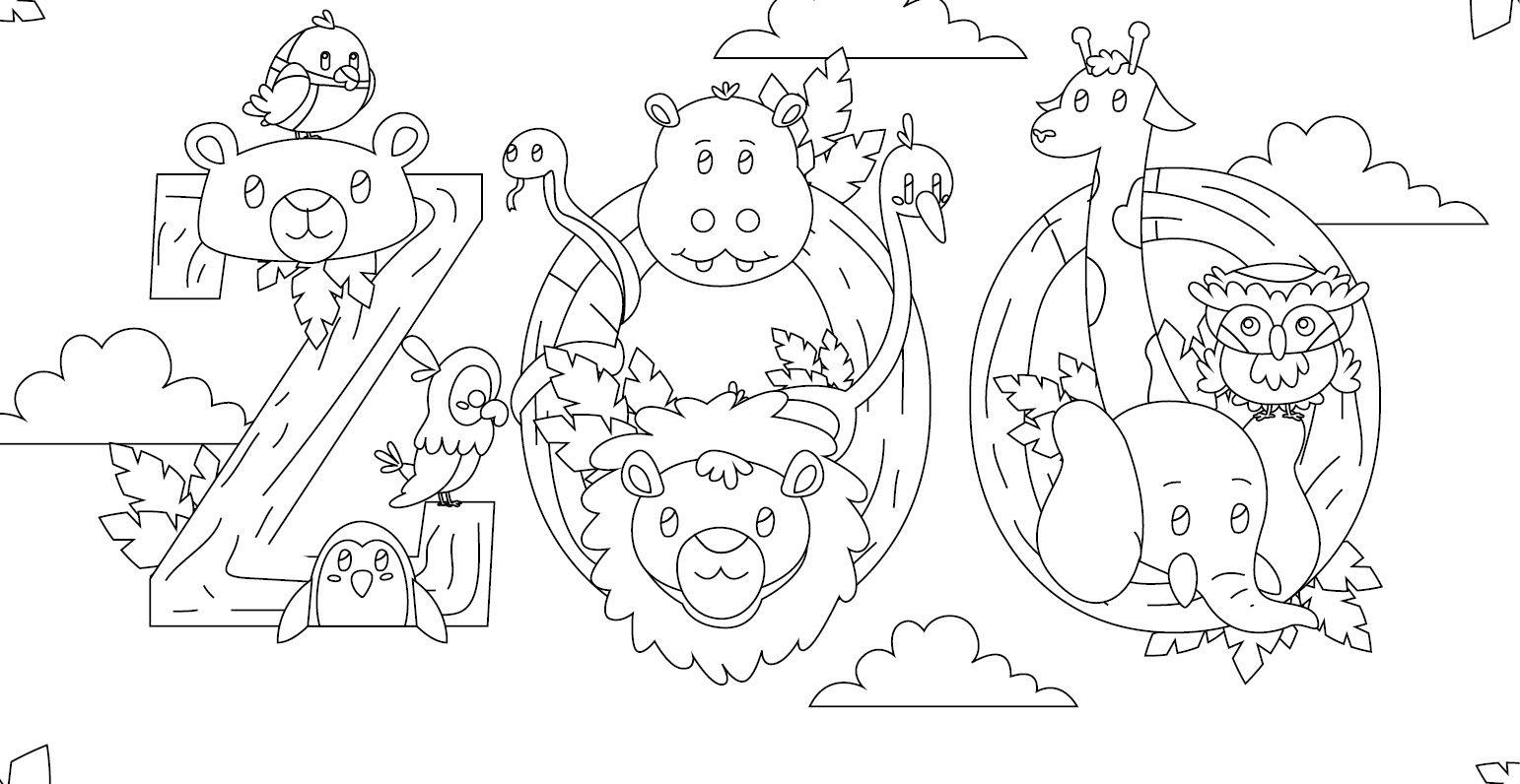 Coloriage Gratuit, Visitons Les Animaux Au Zoo | Coloriage tout Faire Coloriage Gratuit Sur Ordinateur