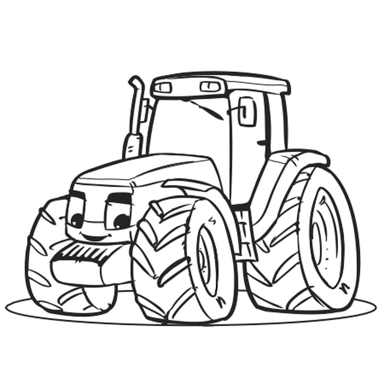 Coloriage Gros Tracteur En Ligne Gratuit À Imprimer encequiconcerne Gros Chiffres À Imprimer