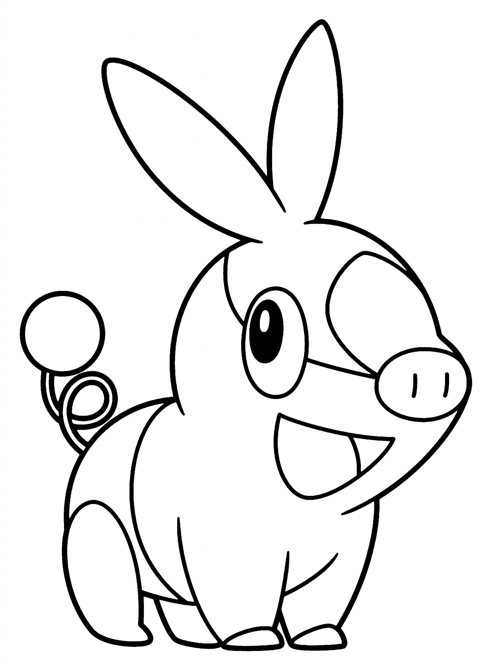Coloriage Gruikui Pokemon À Imprimer destiné Dessin Cochon A Colorier