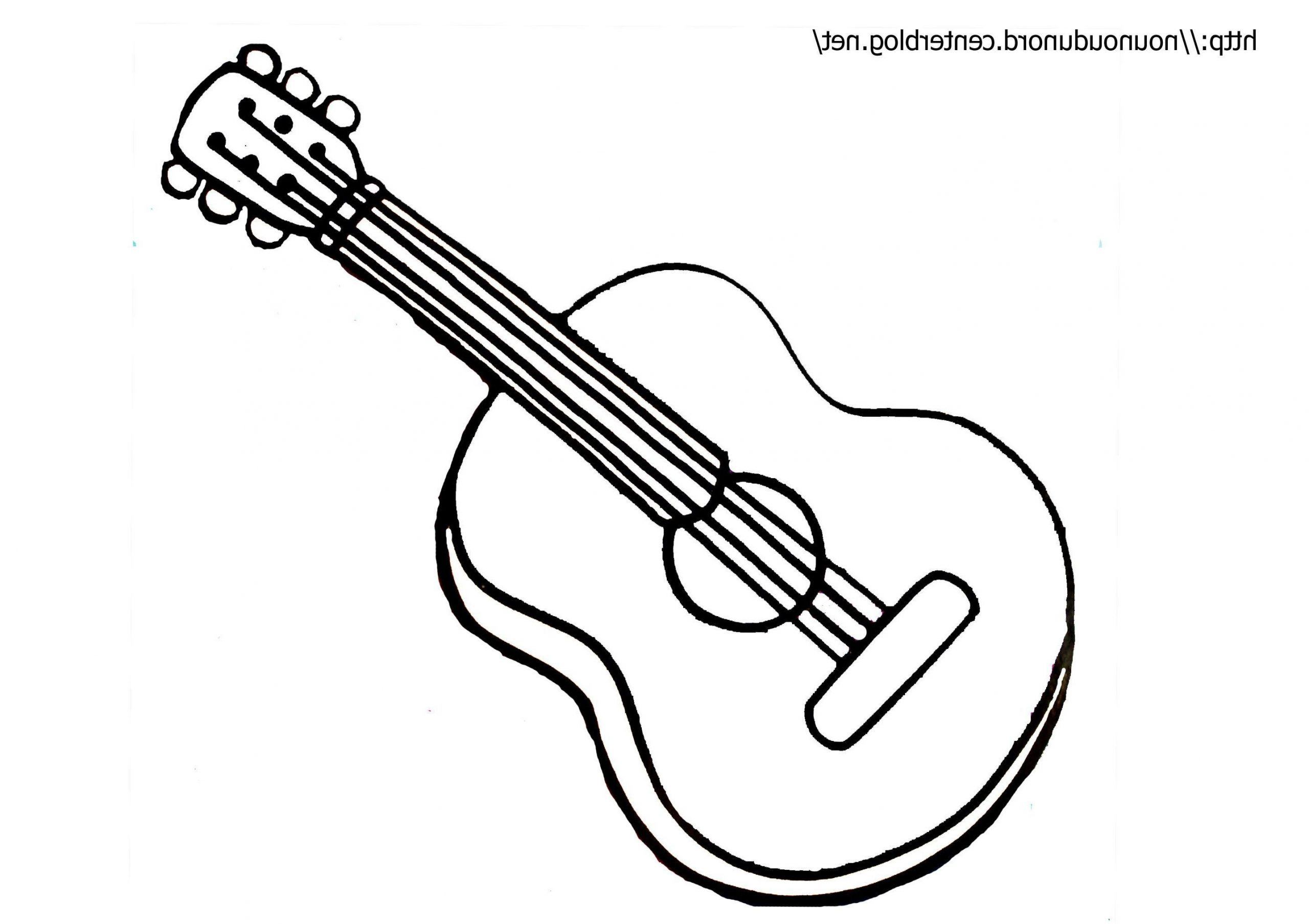 Coloriage Guitare . 10 Fabuleux Coloriage Guitare Stock dedans Image Instrument De Musique À Imprimer
