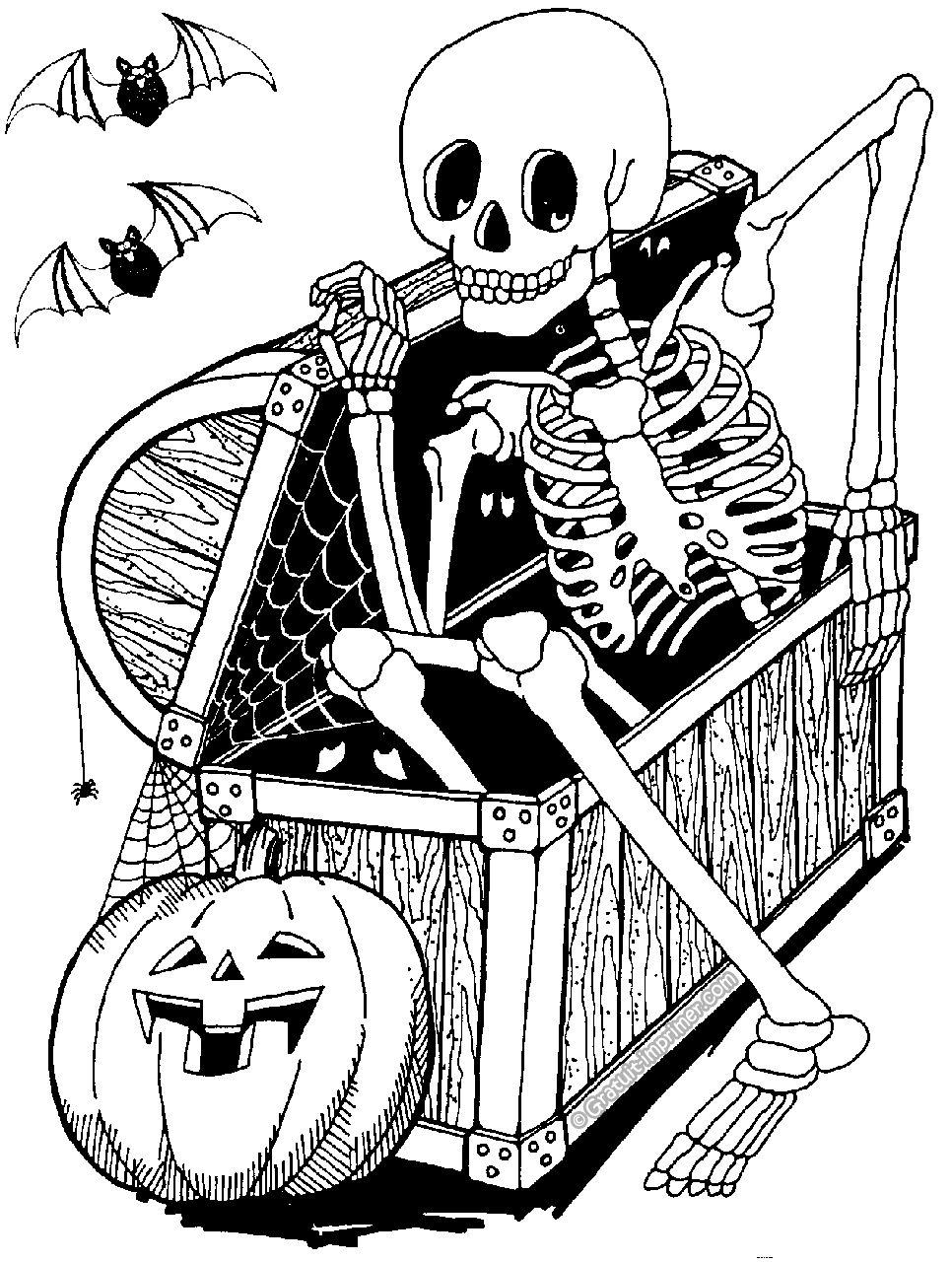 Coloriage Halloween À Colorier - Dessin À Imprimer à Image A Colorier Gratuit A Imprimer