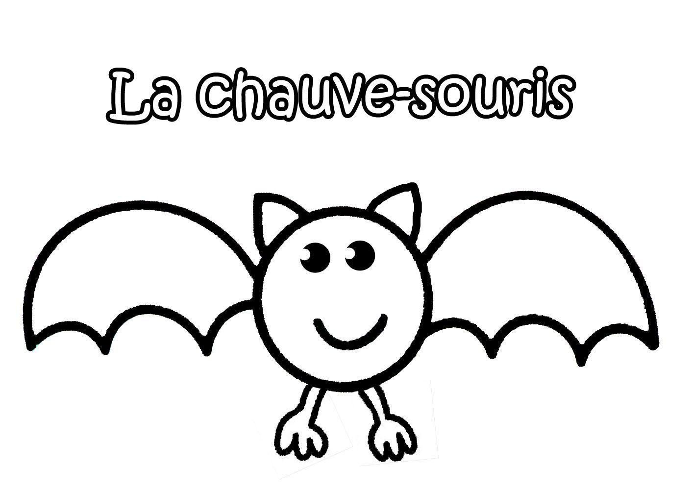 Coloriage Halloween Chauve Souris serapportantà Dessin D Halloween Facile A Dessiner