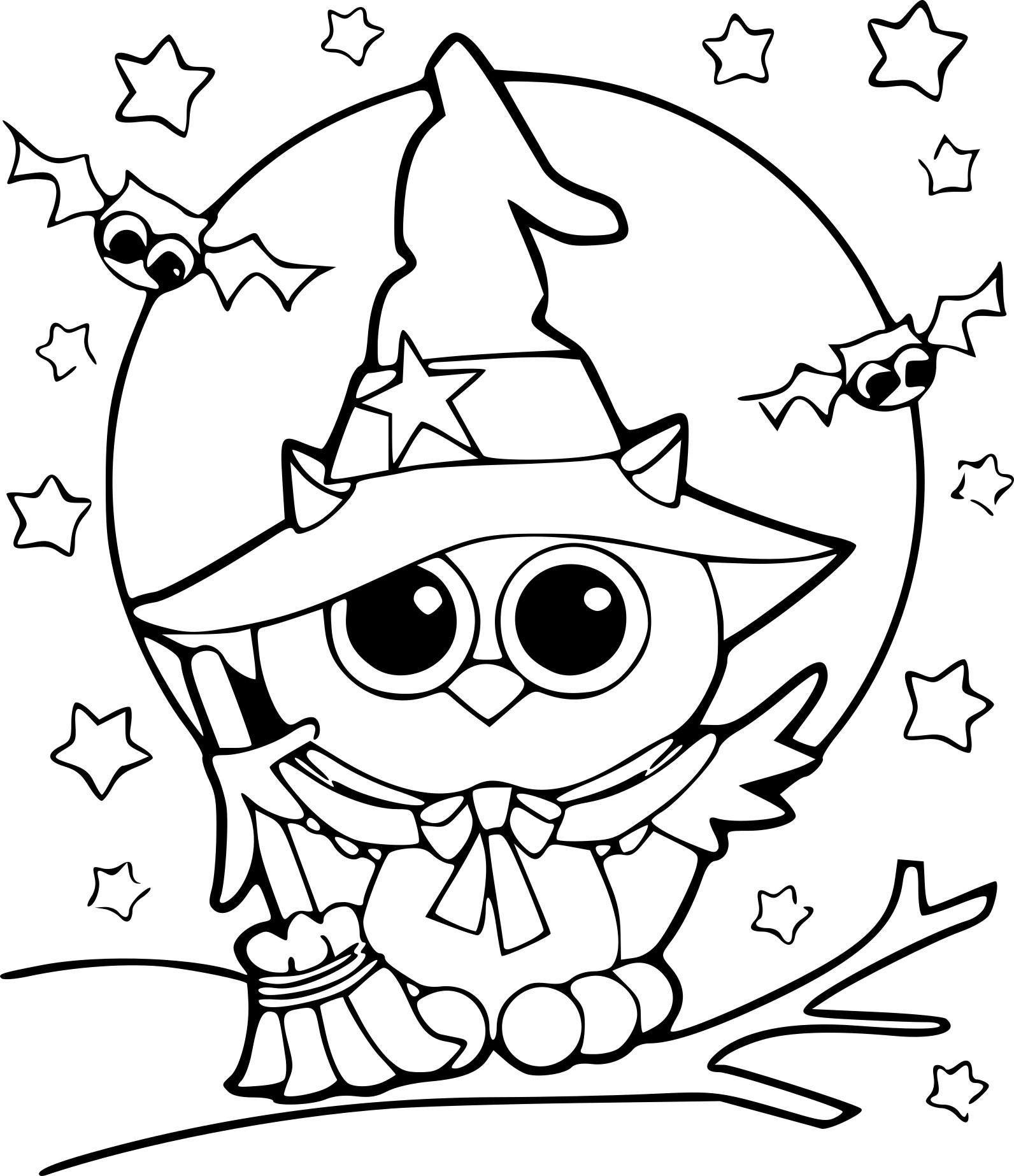 Coloriage Halloween Hibou À Imprimer serapportantà Hibou A Imprimer
