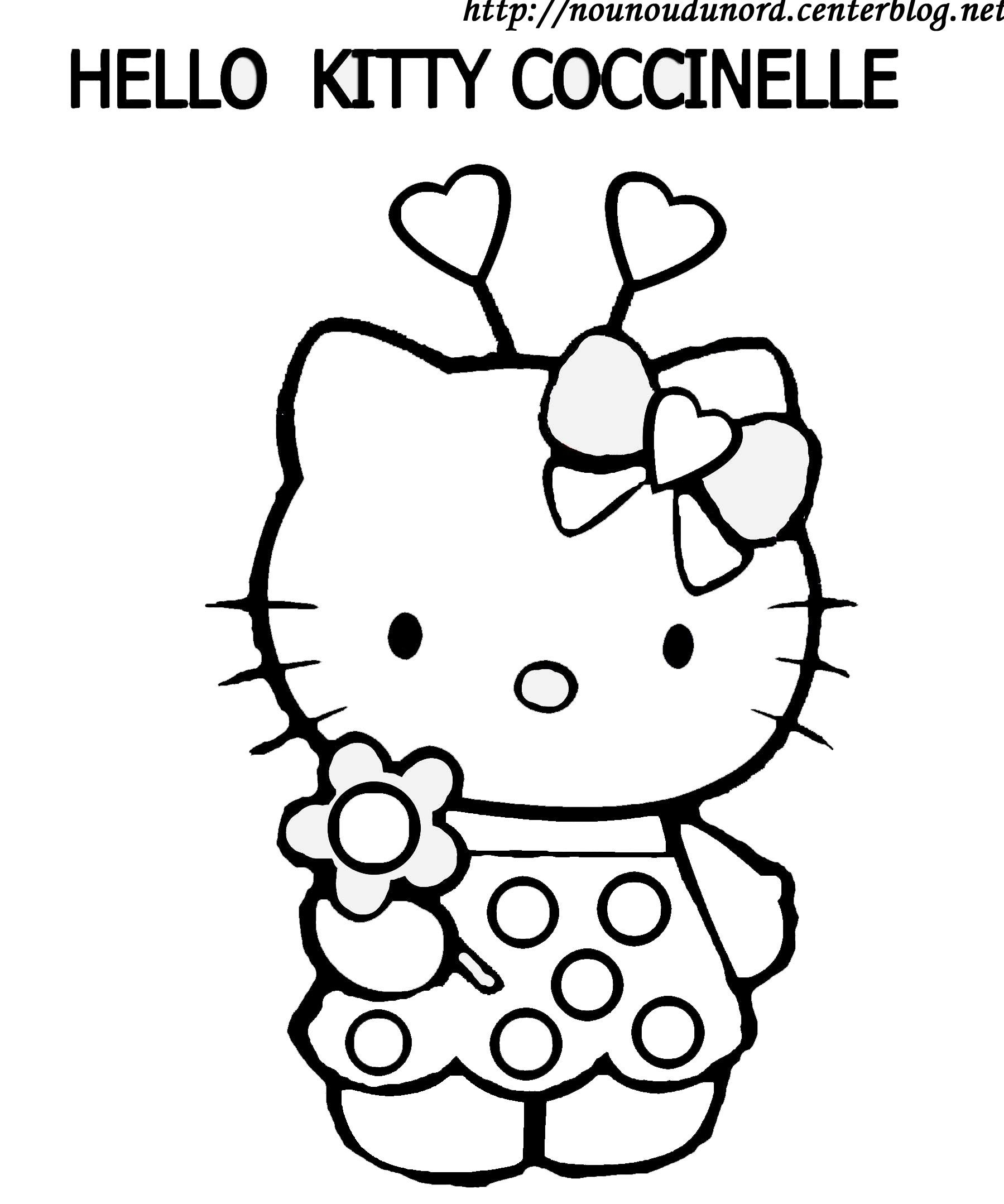 Coloriage Hello Kitty À Colorier - Dessin À Imprimer tout Hello Kitty À Dessiner
