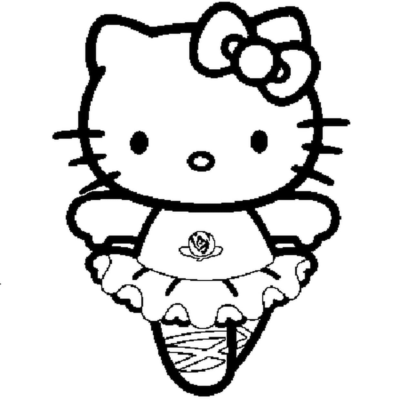 Coloriage Hello Kitty Danseuse En Ligne Gratuit À Imprimer serapportantà Hello Kitty À Dessiner