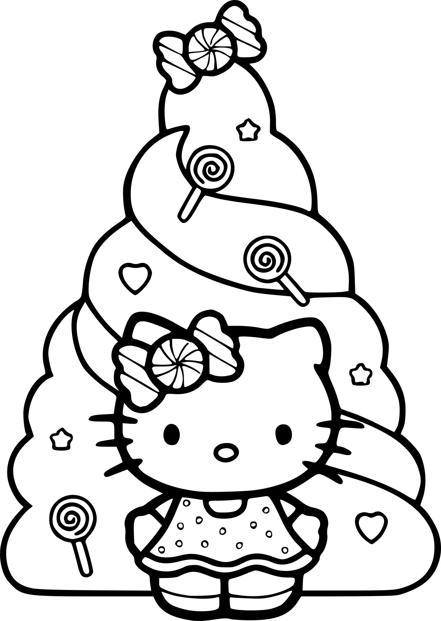 Coloriage Hello Kitty Noel Dessin À Imprimer Sur Coloriages tout Hello Kitty À Dessiner