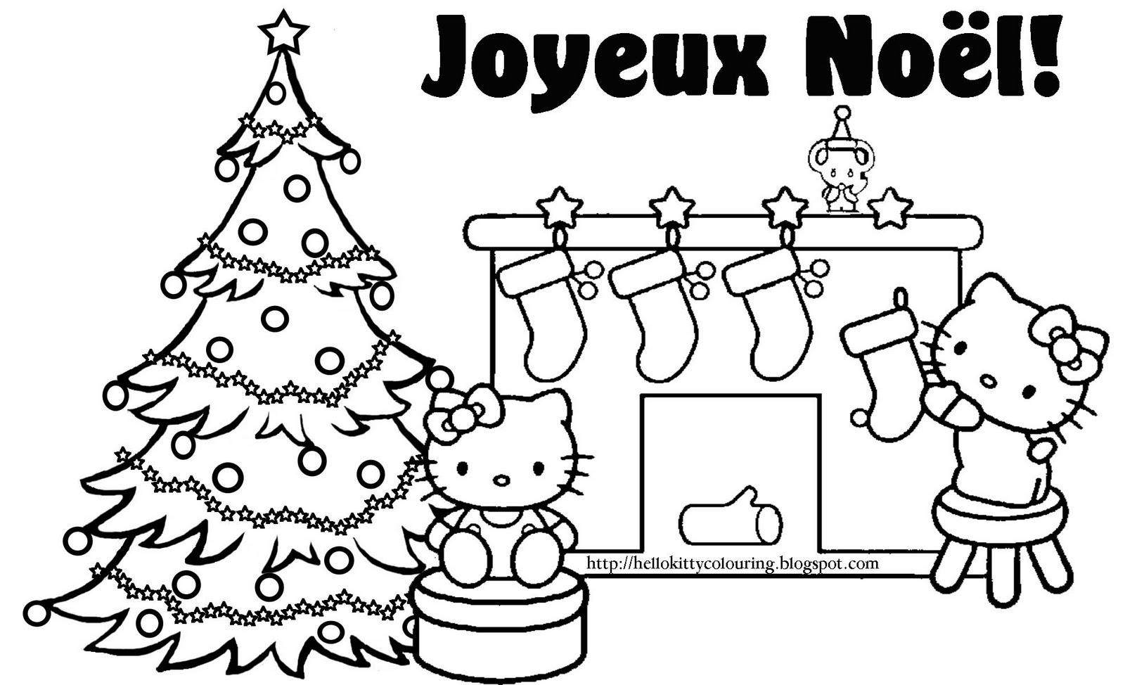 Coloriage Hello Kitty Noel - Les Beaux Dessins De Meilleurs encequiconcerne Hello Kitty À Dessiner