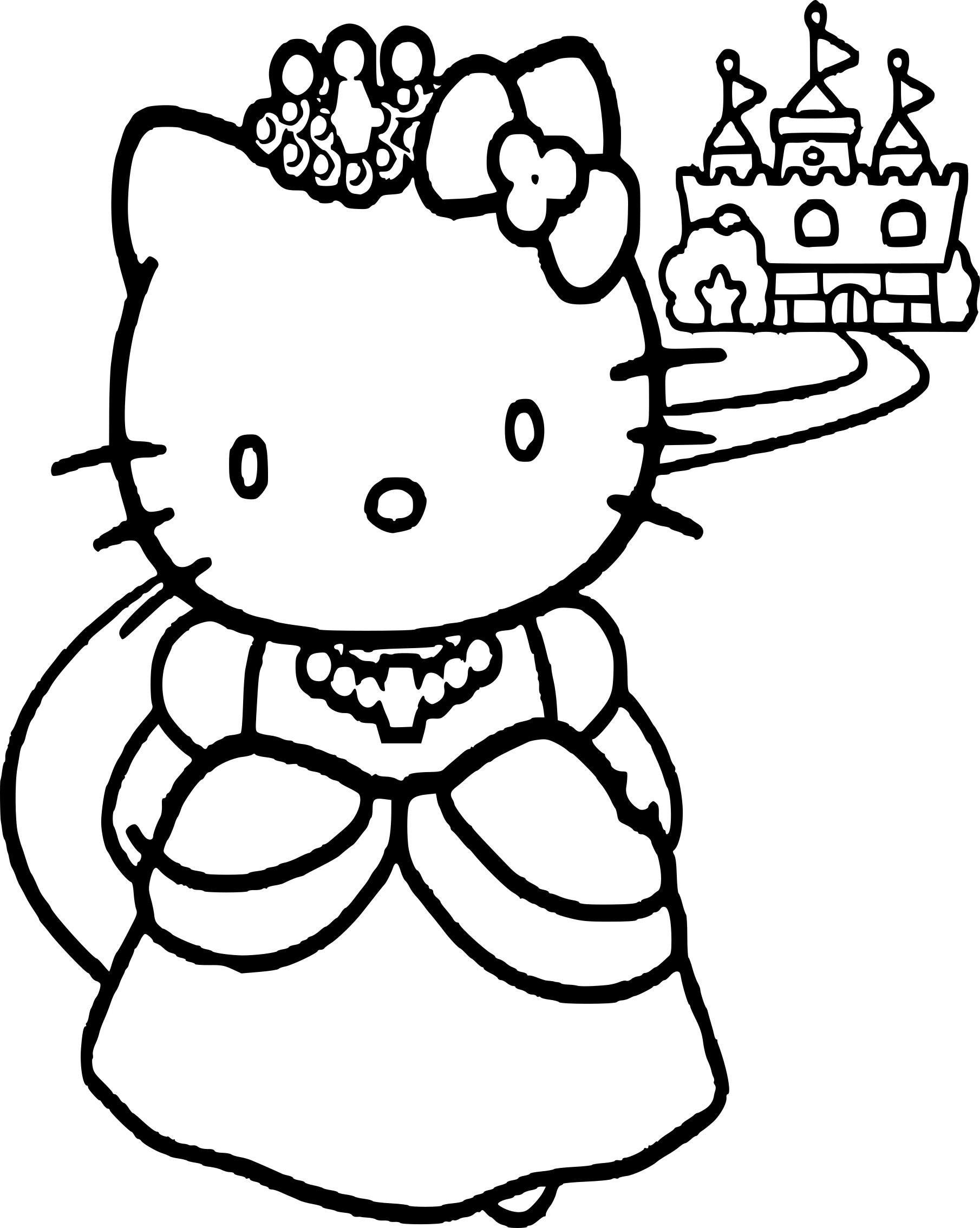 Coloriage Hello Kitty Princesse Dessin À Imprimer Sur à Hello Kitty À Dessiner