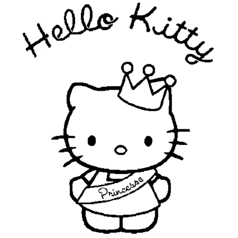 Coloriage Hello Kitty Princesse En Ligne Gratuit À Imprimer concernant Hello Kitty À Dessiner