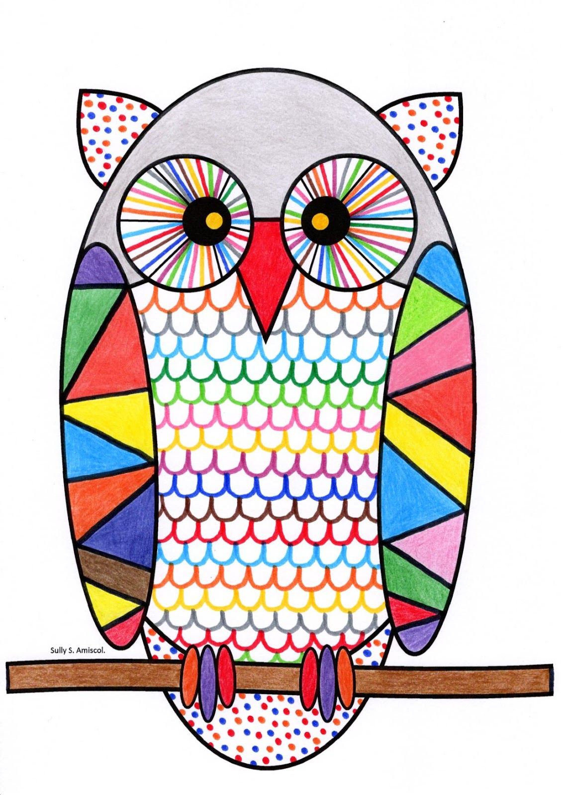 Coloriage Hibou Maternelle - Coloriage Ideas encequiconcerne Hibou Dessin Couleur