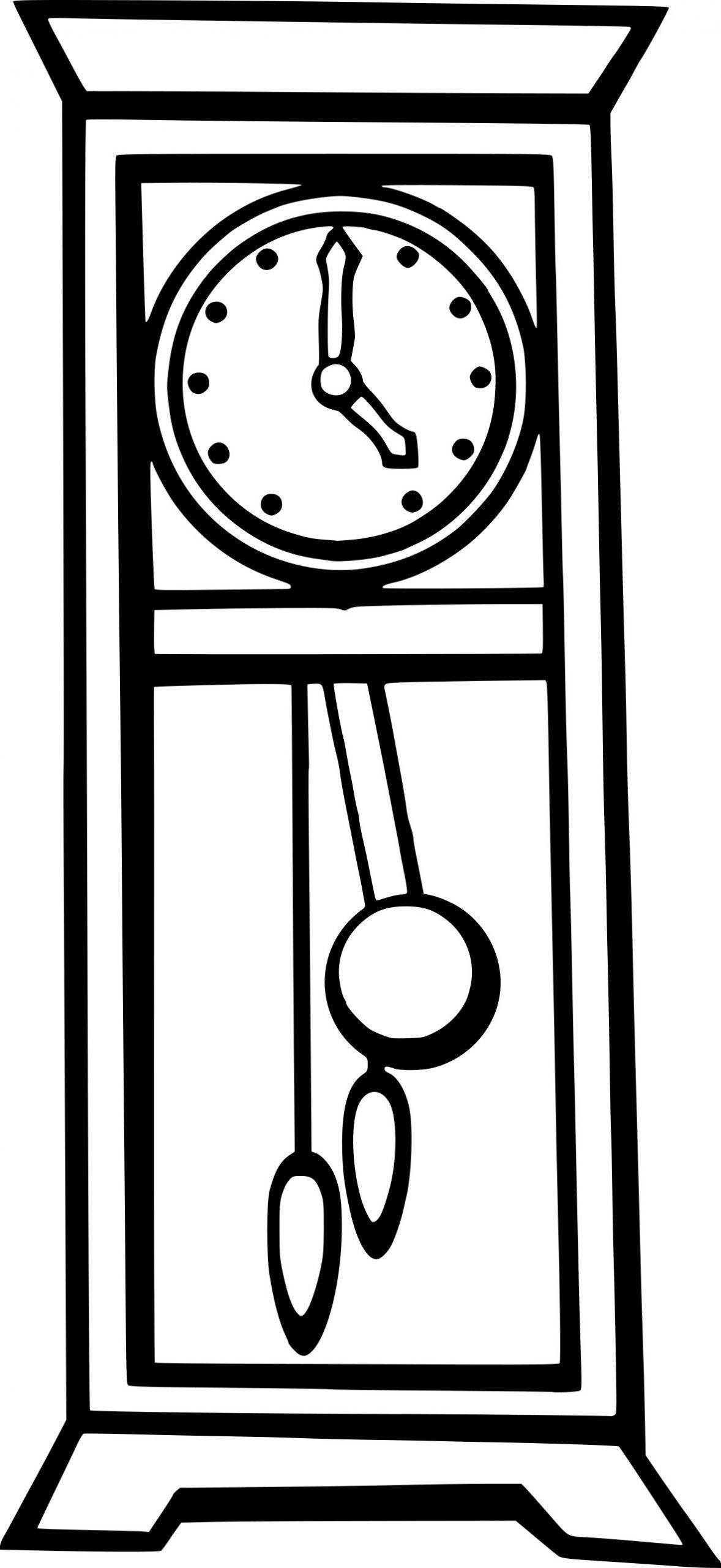 Coloriage Horloge À Imprimer à Dessin D Horloge