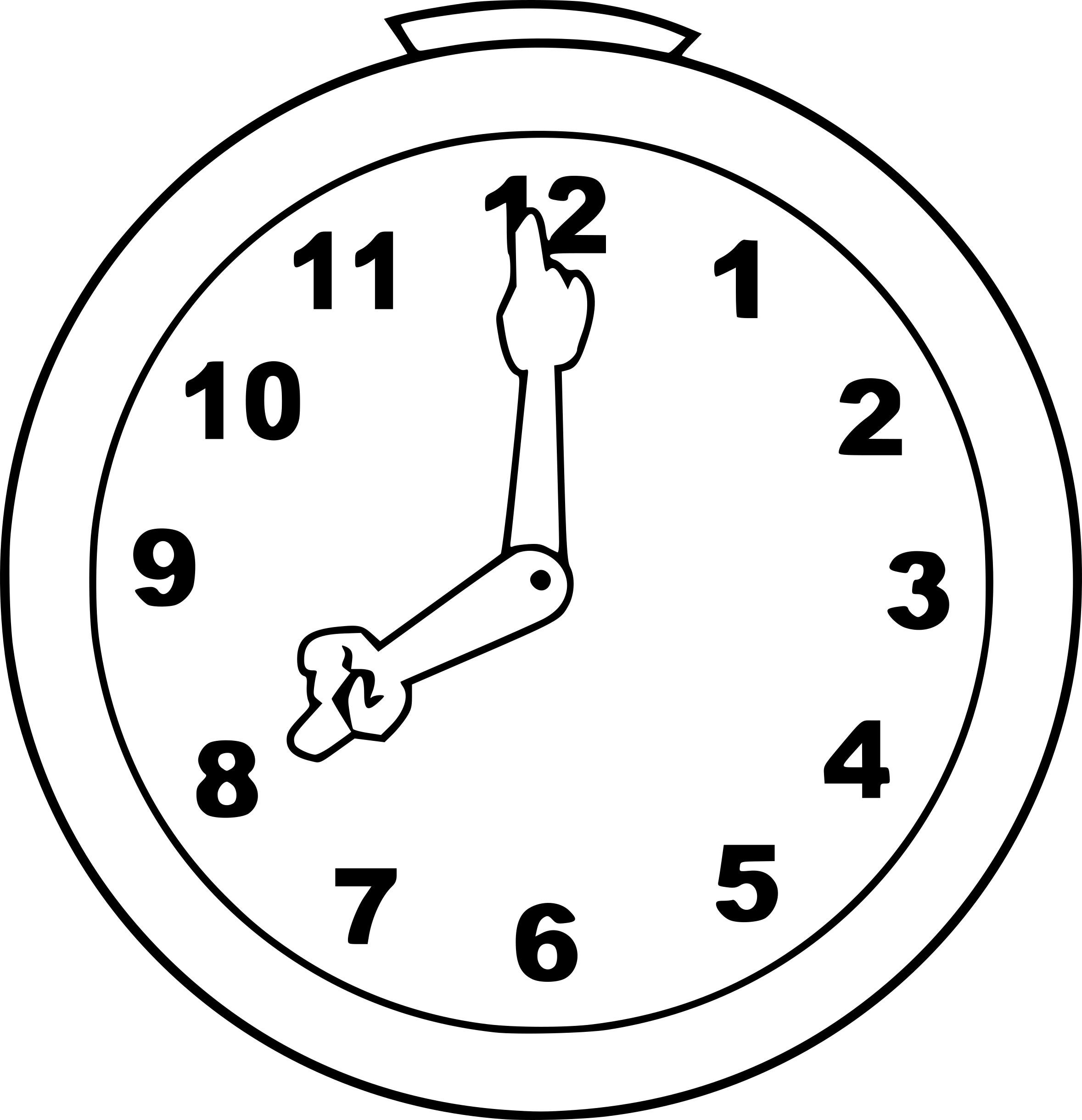 Coloriage Horloge Dessin À Imprimer Sur Coloriages concernant Dessin D Horloge