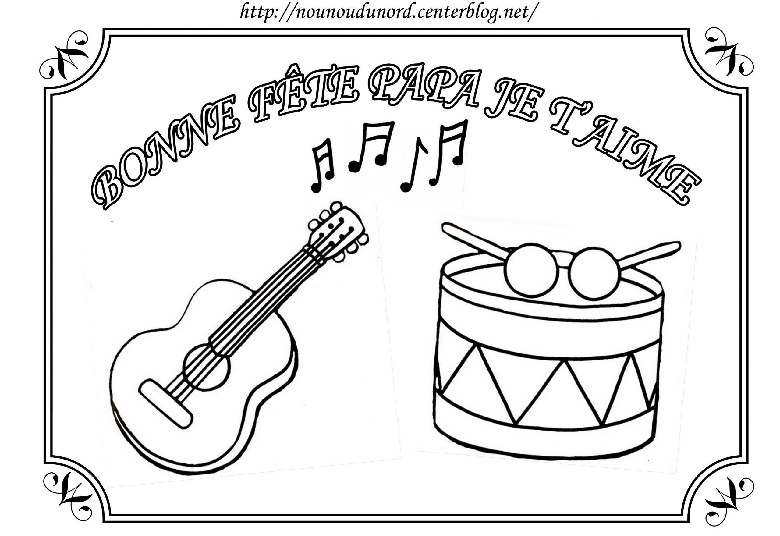 Coloriage Instruments De Musique Pour La Fête à Image Instrument De Musique À Imprimer