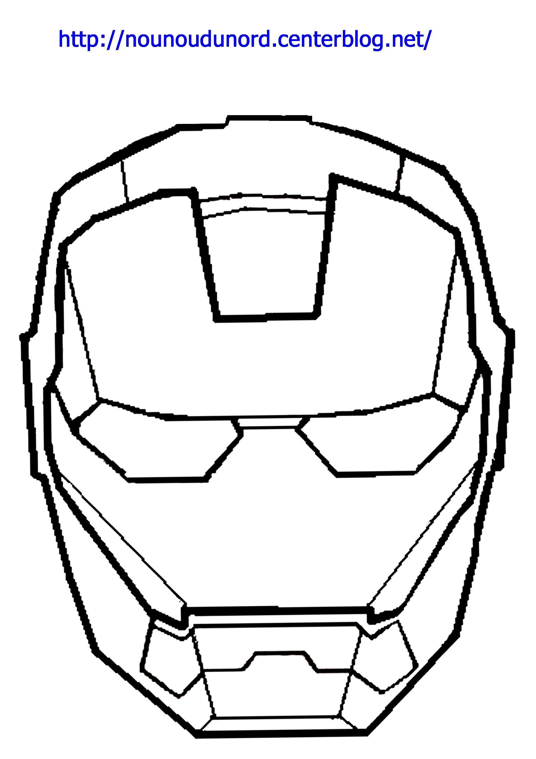 Coloriage Iron Man À Colorier - Dessin À Imprimer encequiconcerne Masque Spiderman A Imprimer