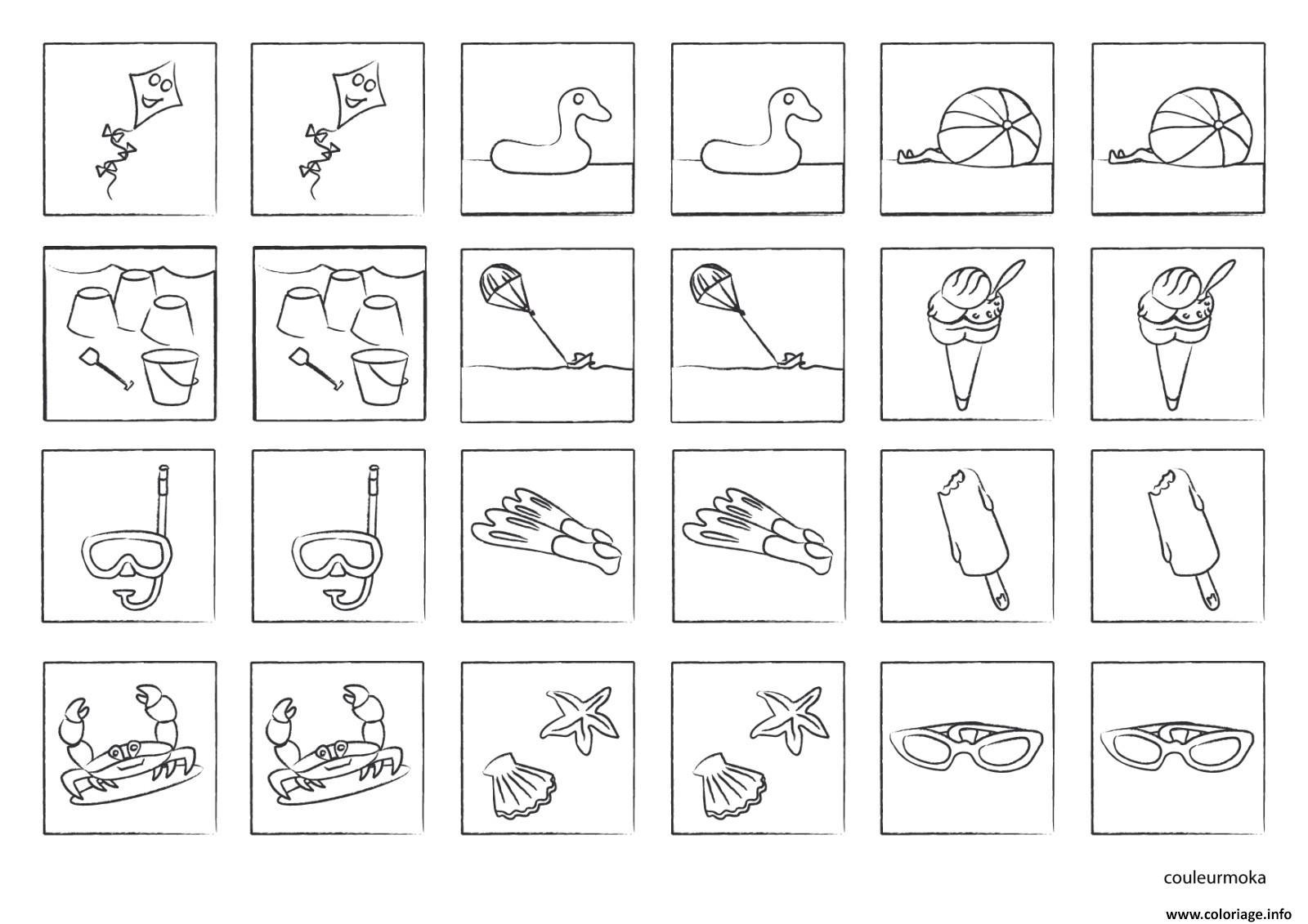 Coloriage Jeu De Memoire A Imprimer Colorier Et Jouer Dessin dedans Jeux Mathématiques À Imprimer
