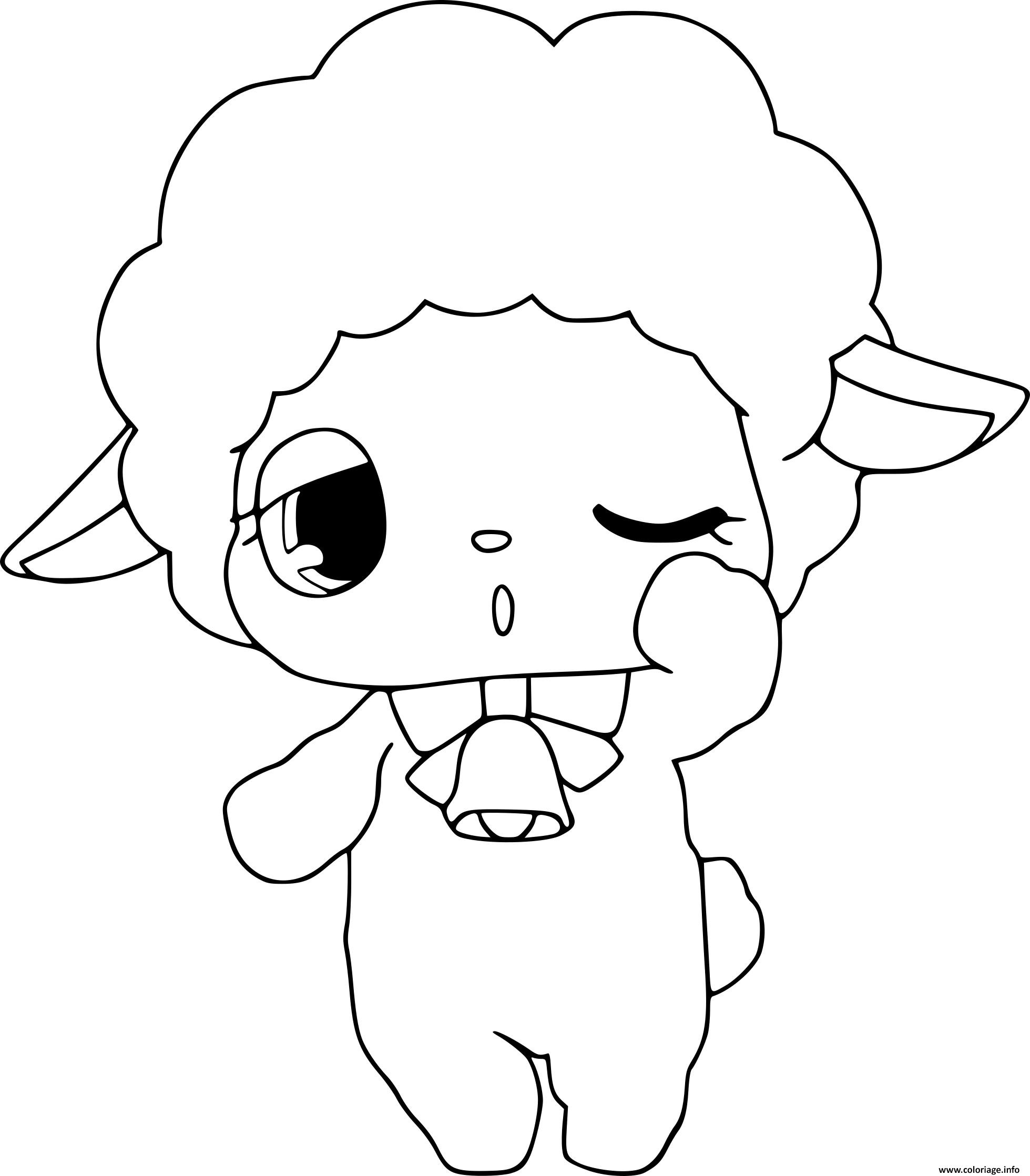 Coloriage Jewelpet Mouton Dessin dedans Photo De Mouton A Imprimer