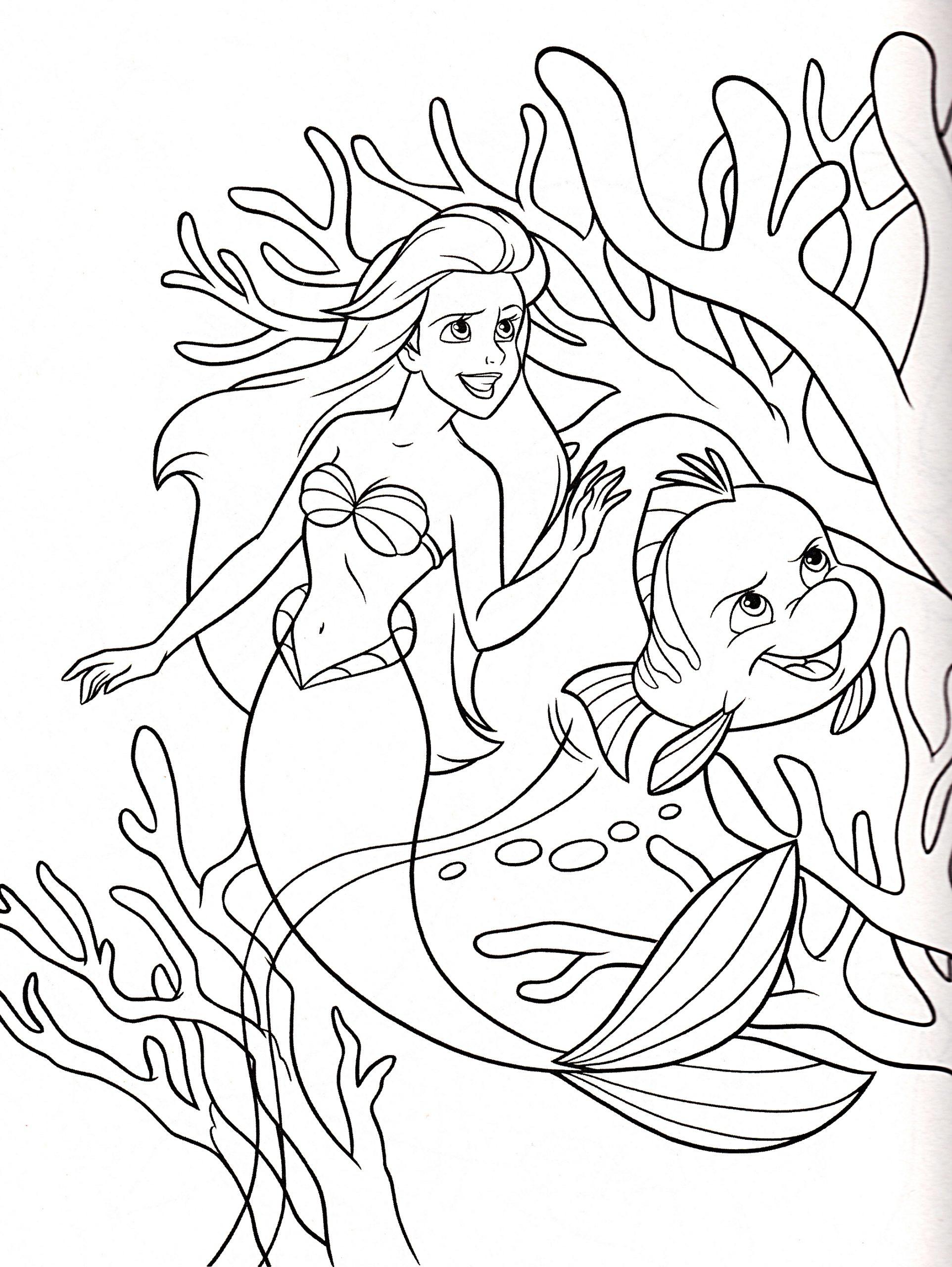 Coloriage La Petite Sirène Disney À Imprimer encequiconcerne La Petite Sirène À Colorier