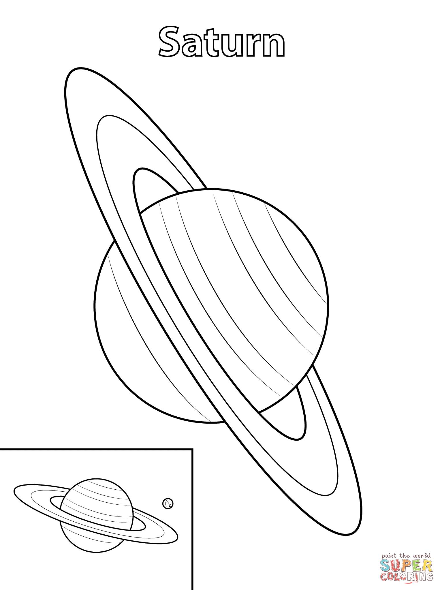 Coloriage - La Planète Saturne | Coloriages À Imprimer Gratuits avec Saturne Dessin