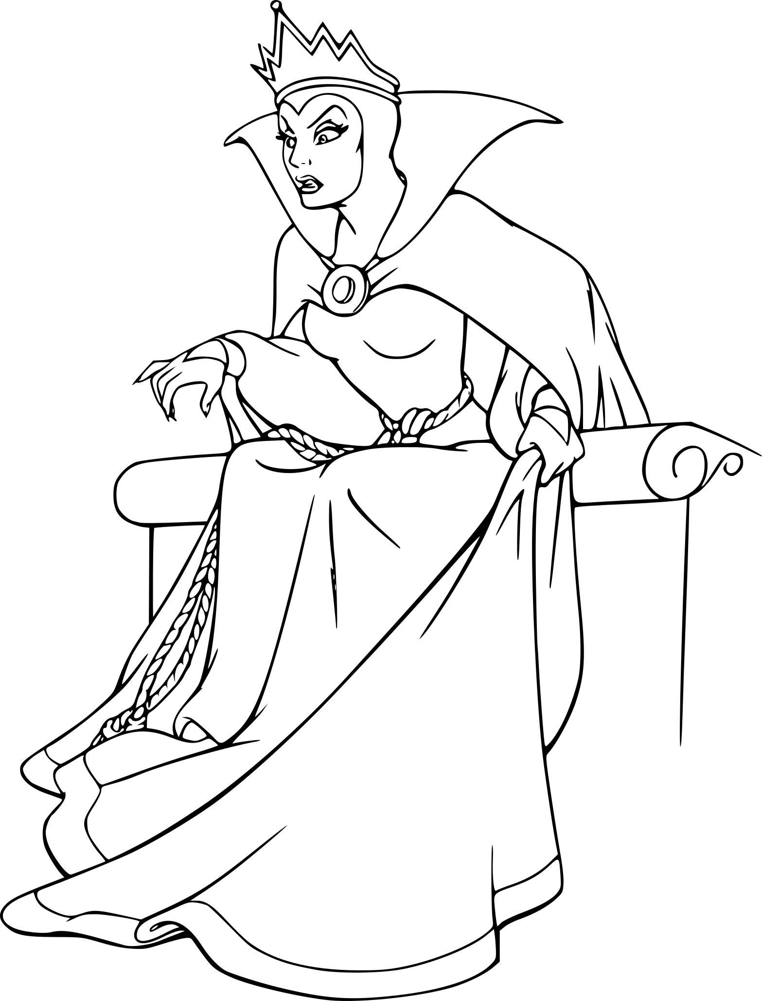 Coloriage La Reine Blanche Neige À Imprimer Sur Coloriages pour Blanche Neige À Colorier Et Imprimer