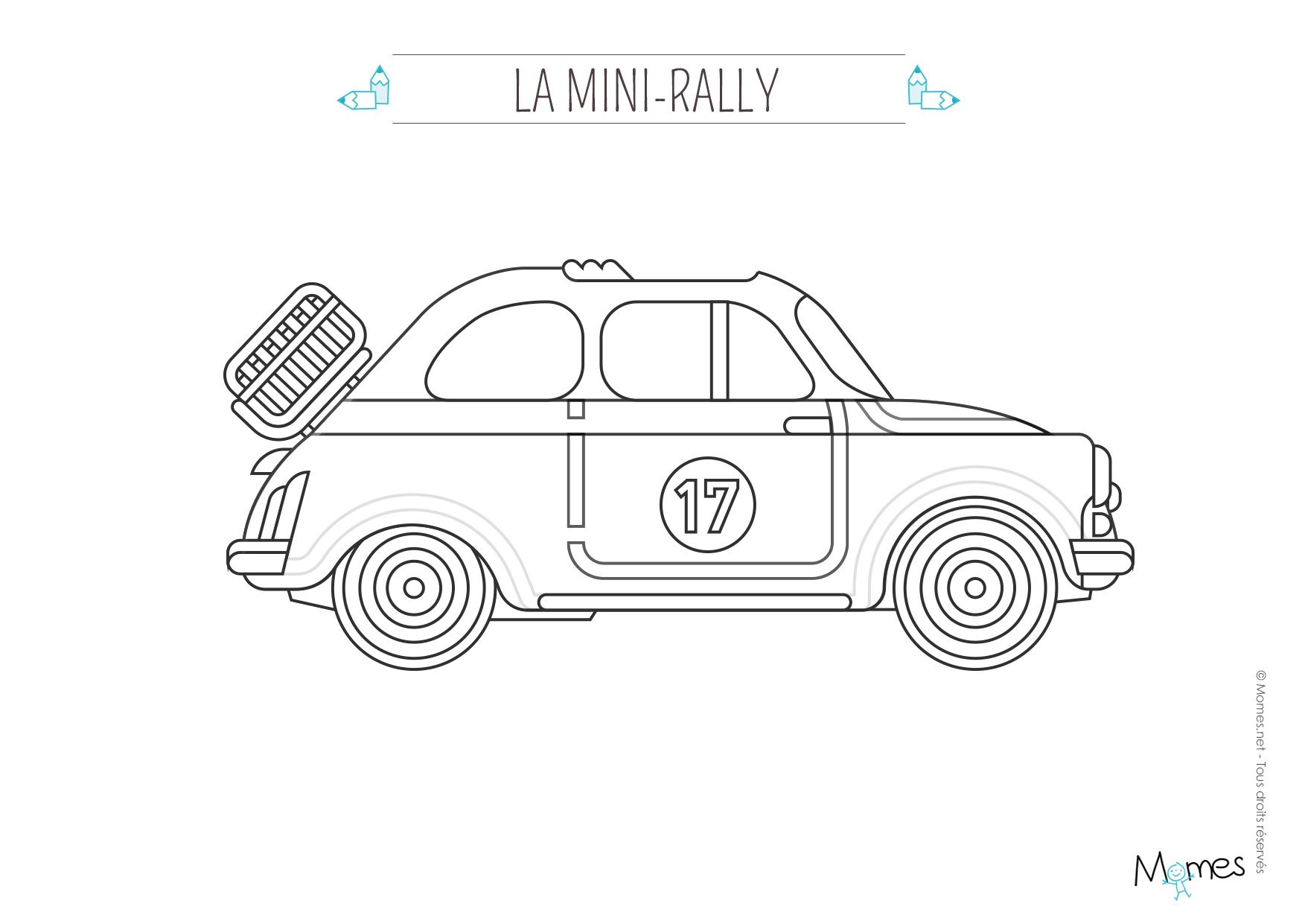 Coloriage La Voiture De Rallye - Momes à Apprendre A Dessiner Une Voiture