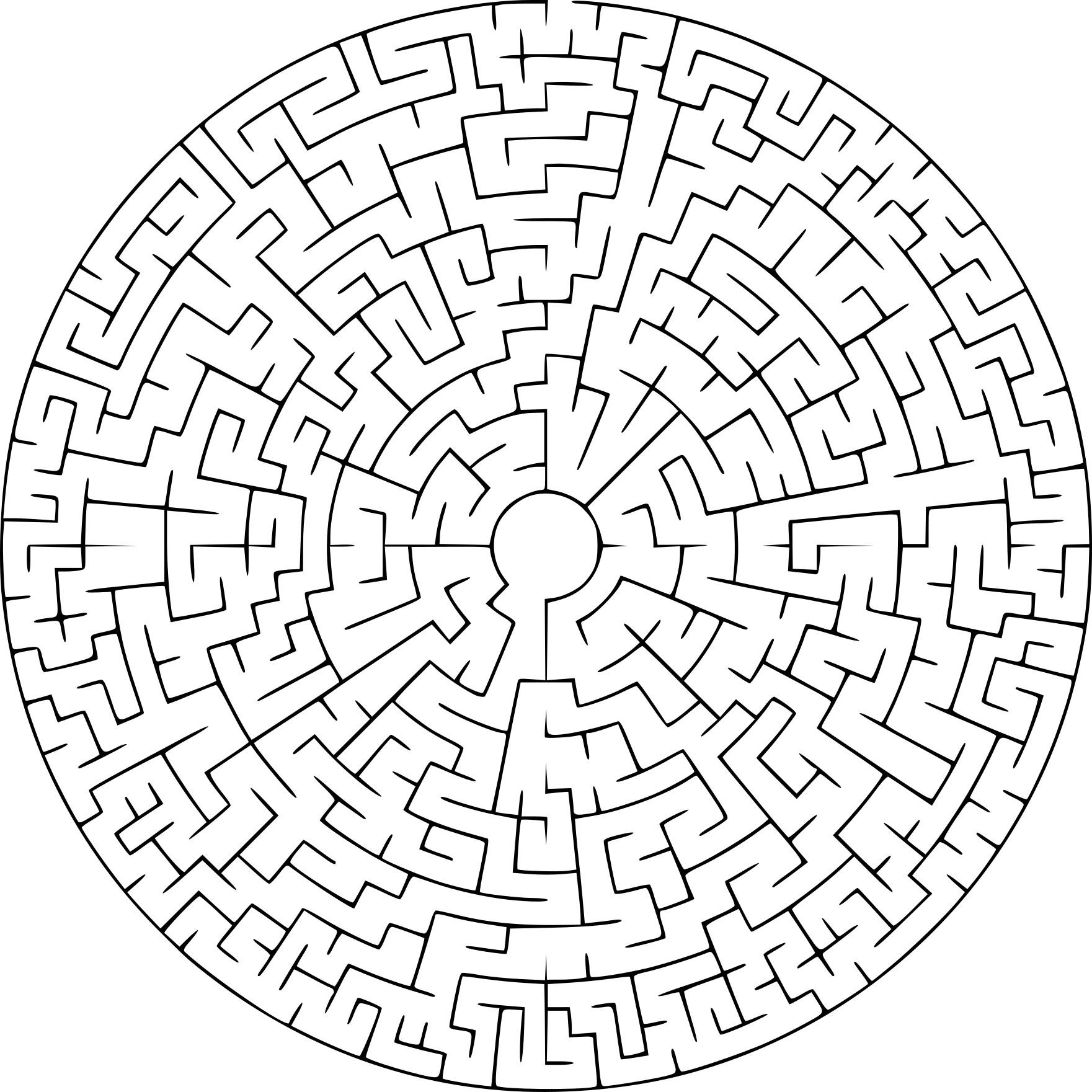 Coloriage Labyrinthe À Imprimer encequiconcerne Labyrinthe Difficile