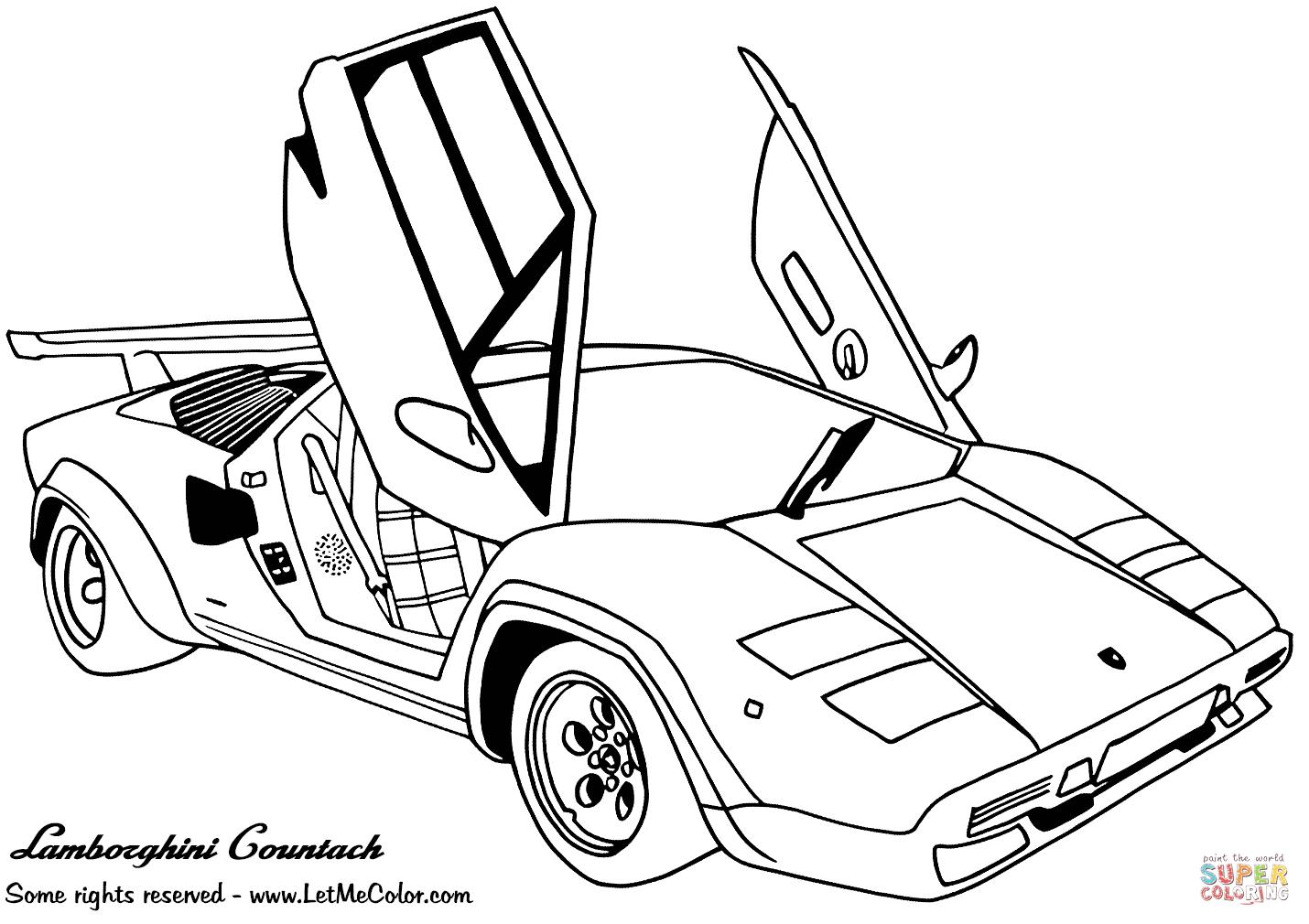Coloriage - Lamborghini Countach | Coloriages À Imprimer à Ferrari A Colorier