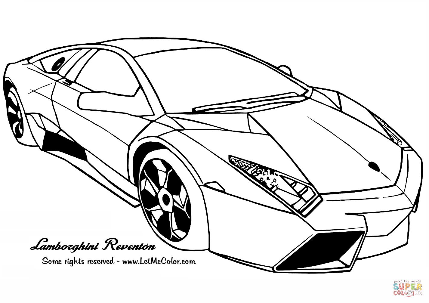 Coloriage - Lamborghini Reventon | Coloriages À Imprimer à Ferrari A Colorier