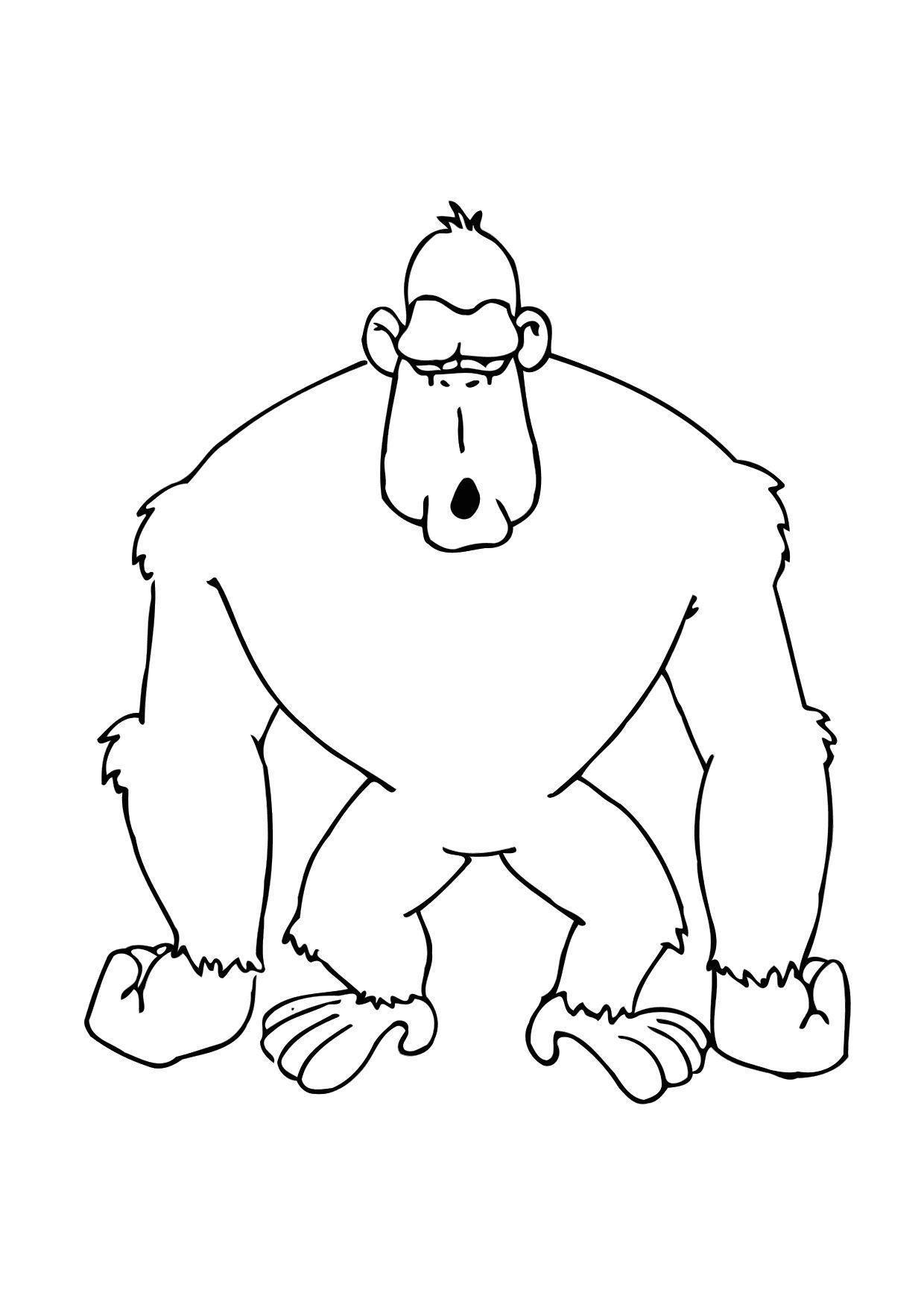 Coloriage Le Gorille - Coloriages Gratuits À Imprimer avec Coloriage Gorille