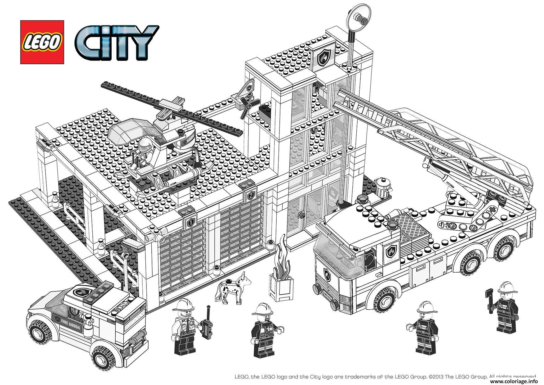 Coloriage Lego City Pompier Dessin à Jeux De Camion De Pompier Gratuit