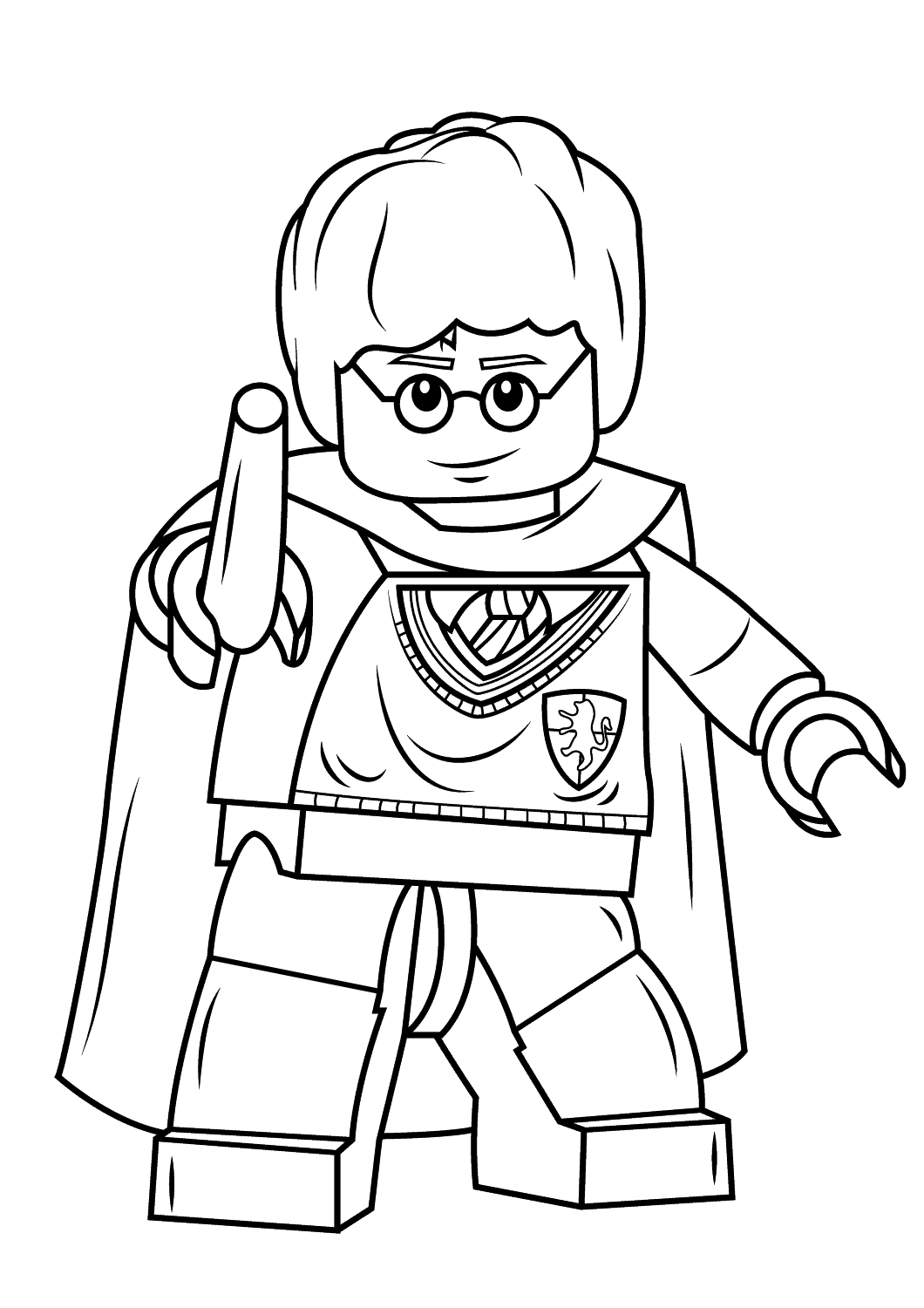 Coloriage Lego Harry Potter À Imprimer tout Dessin D Harry Potter