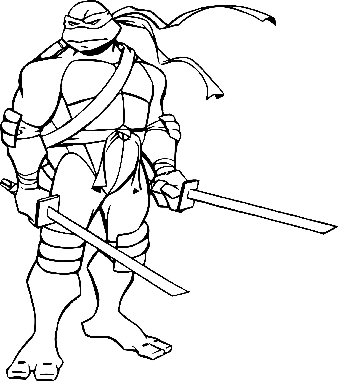 Coloriage Leonardo Tortue Ninja À Imprimer serapportantà Dessin De Tortue Ninja