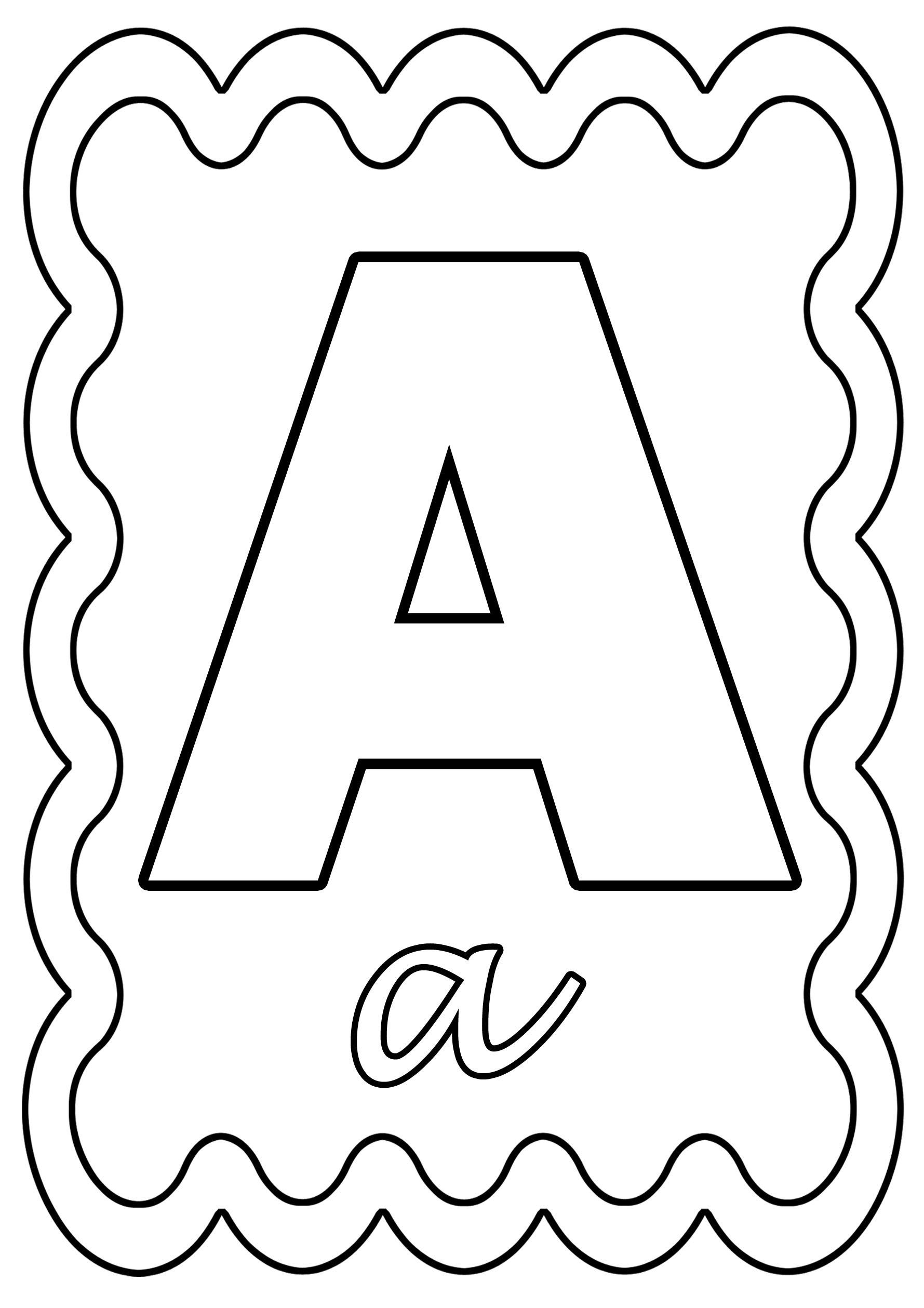 Coloriage Lettre A À Colorier Ou À Gommettes encequiconcerne Lettres Majuscules À Imprimer