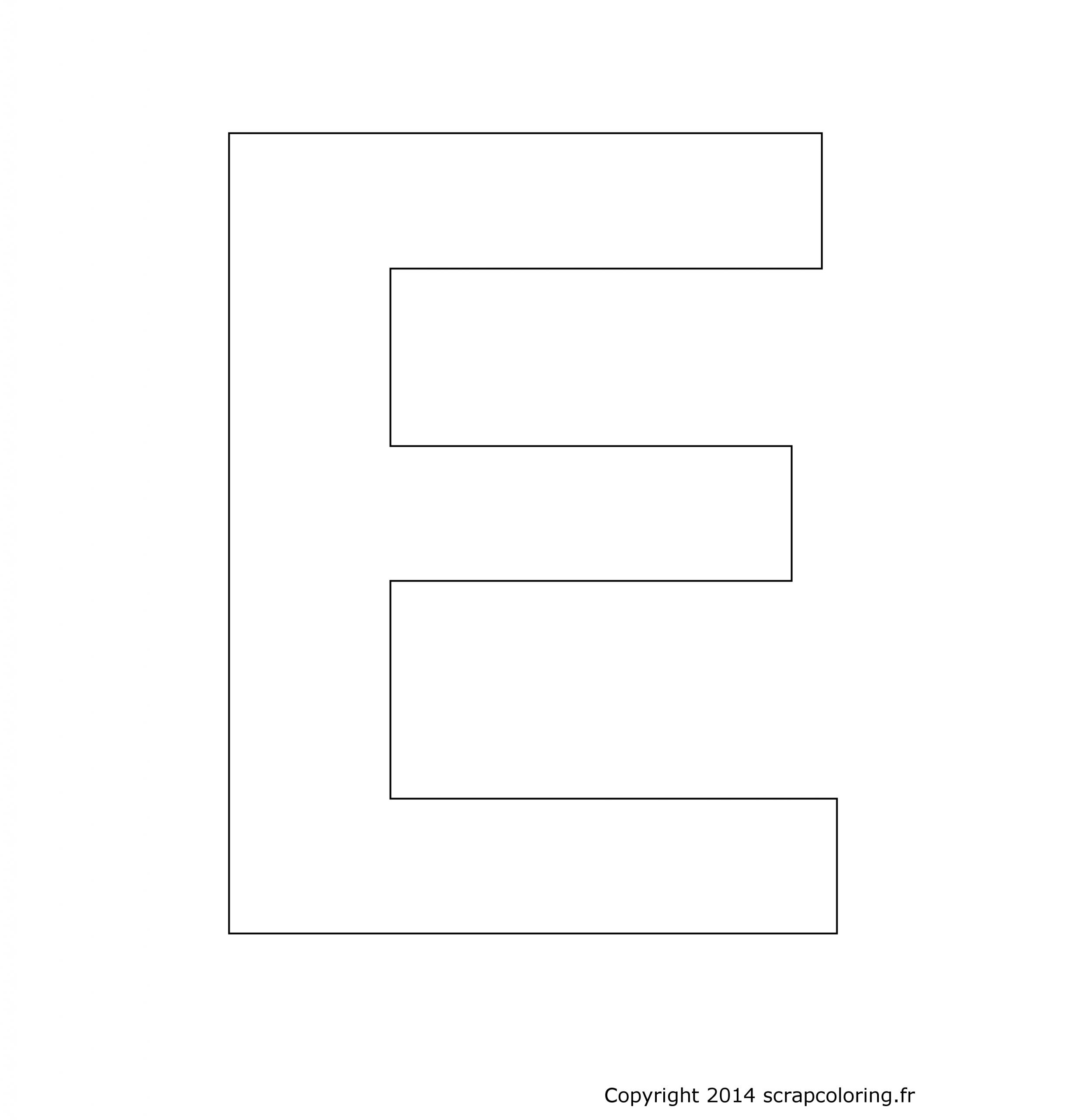 Coloriage Lettre E encequiconcerne Dessin Lettre E