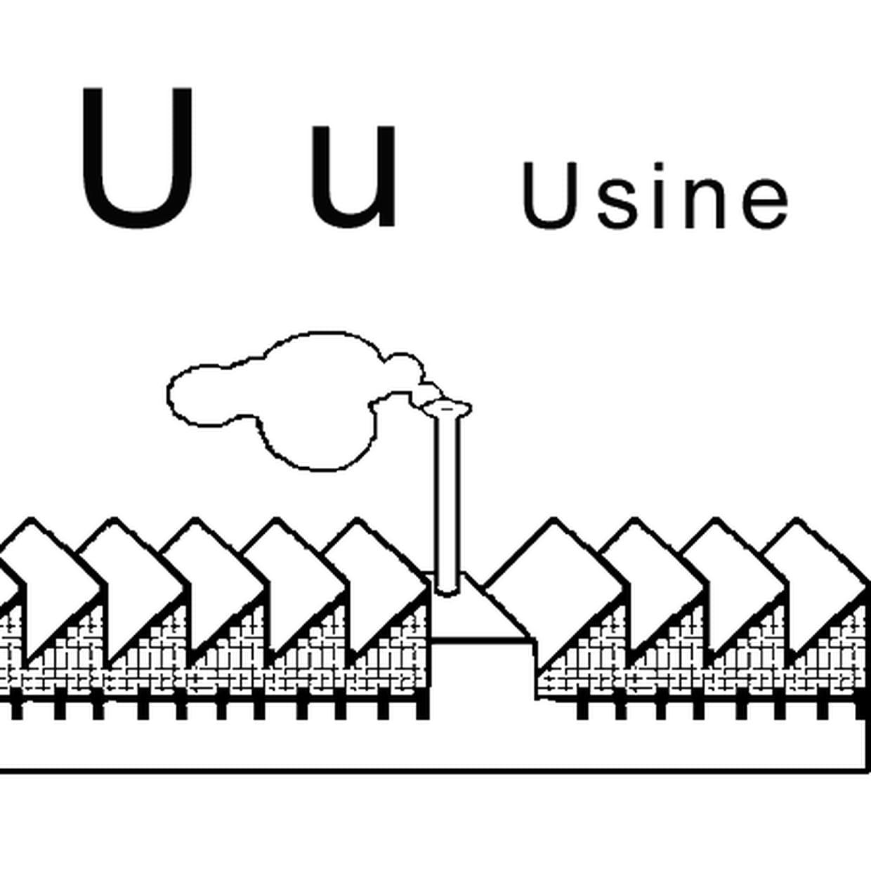 Coloriage Lettre U Comme Usine En Ligne Gratuit À Imprimer concernant Lettres Majuscules À Imprimer