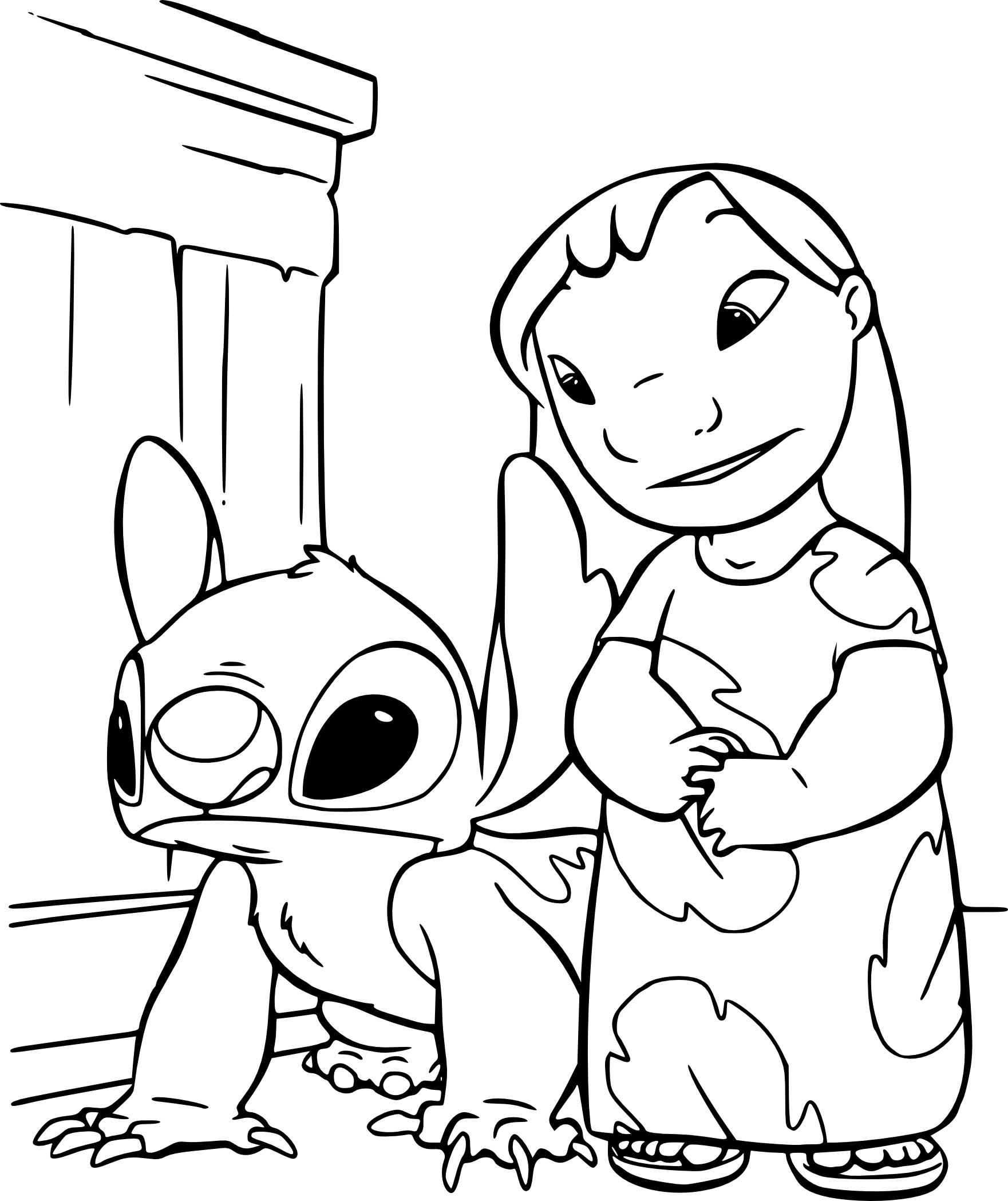 Coloriage Lilo Et Stitch À Imprimer pour Lilo Et Stitch Dessin Animé