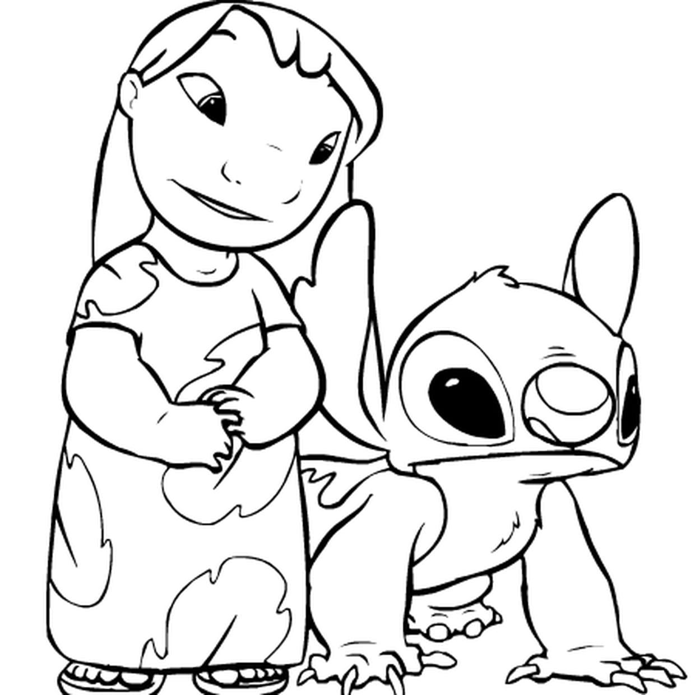Coloriage Lilo Et Stitch En Ligne Gratuit À Imprimer pour Lilo Et Stitch Dessin Animé