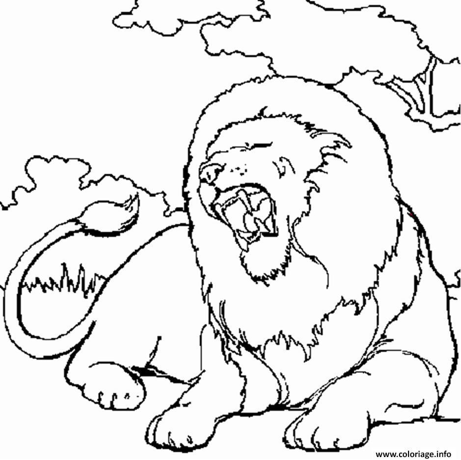 Coloriage Lion En Afrique Dessin tout Dessin Africain A Colorier