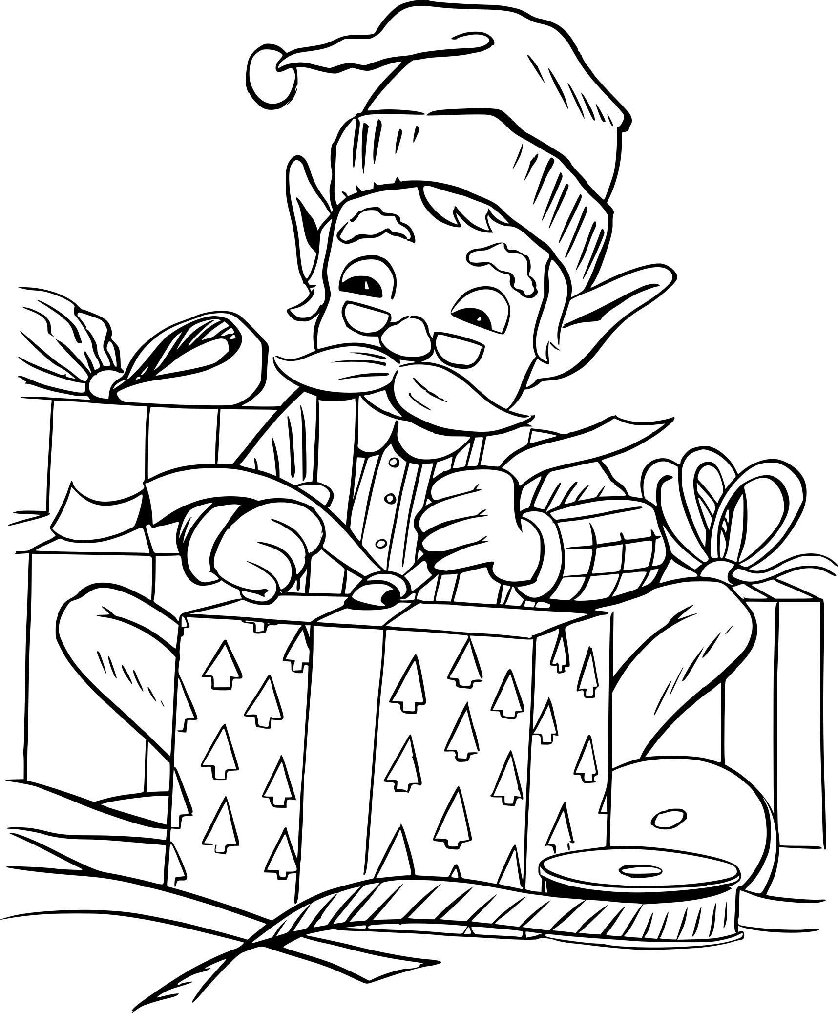 Coloriage Lutin De Noel À Imprimer serapportantà Dessiner Un Lutin