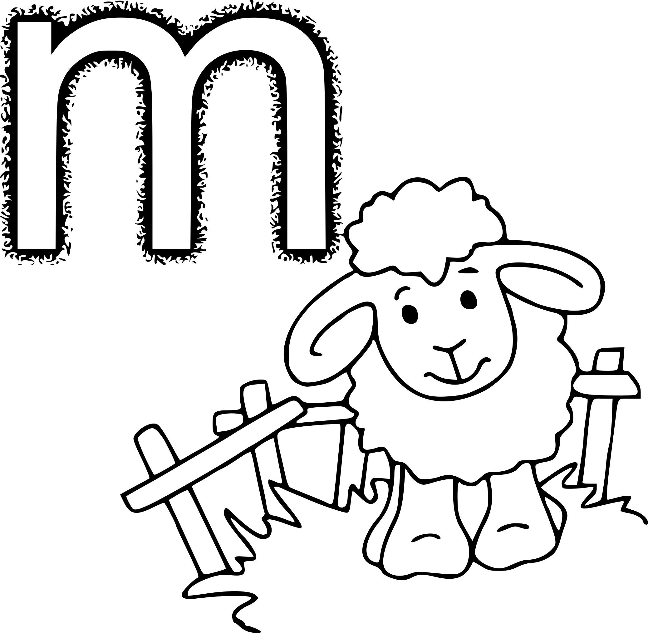 Coloriage M Comme Mouton À Imprimer à Photo De Mouton A Imprimer