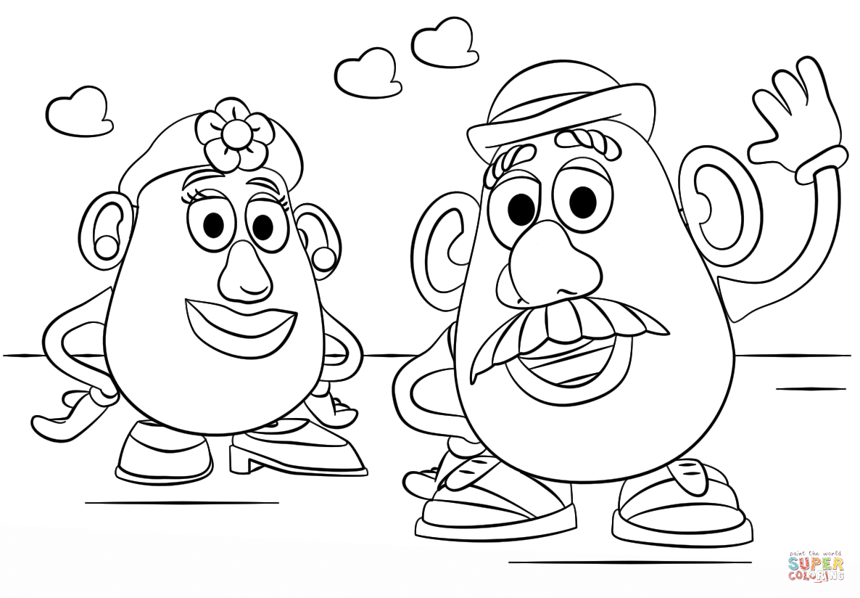 Coloriage - M. Et Mme Patate | Coloriages À Imprimer Gratuits serapportantà Mr Patate Coloriage