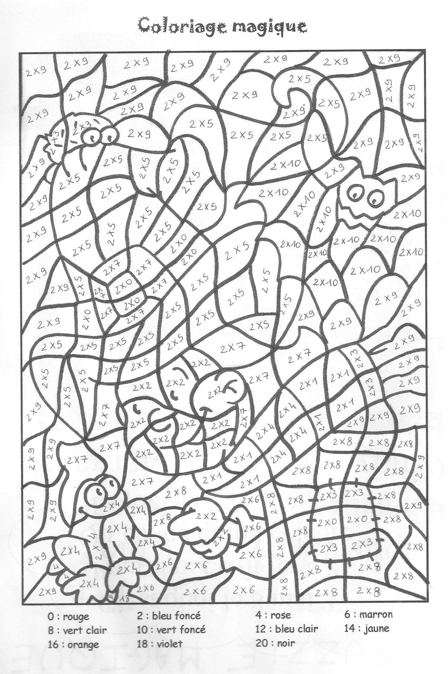 Coloriage Magique 4 À Imprimer - Coloriages Magiques À à Jeux Educatif Ce1 A Imprimer