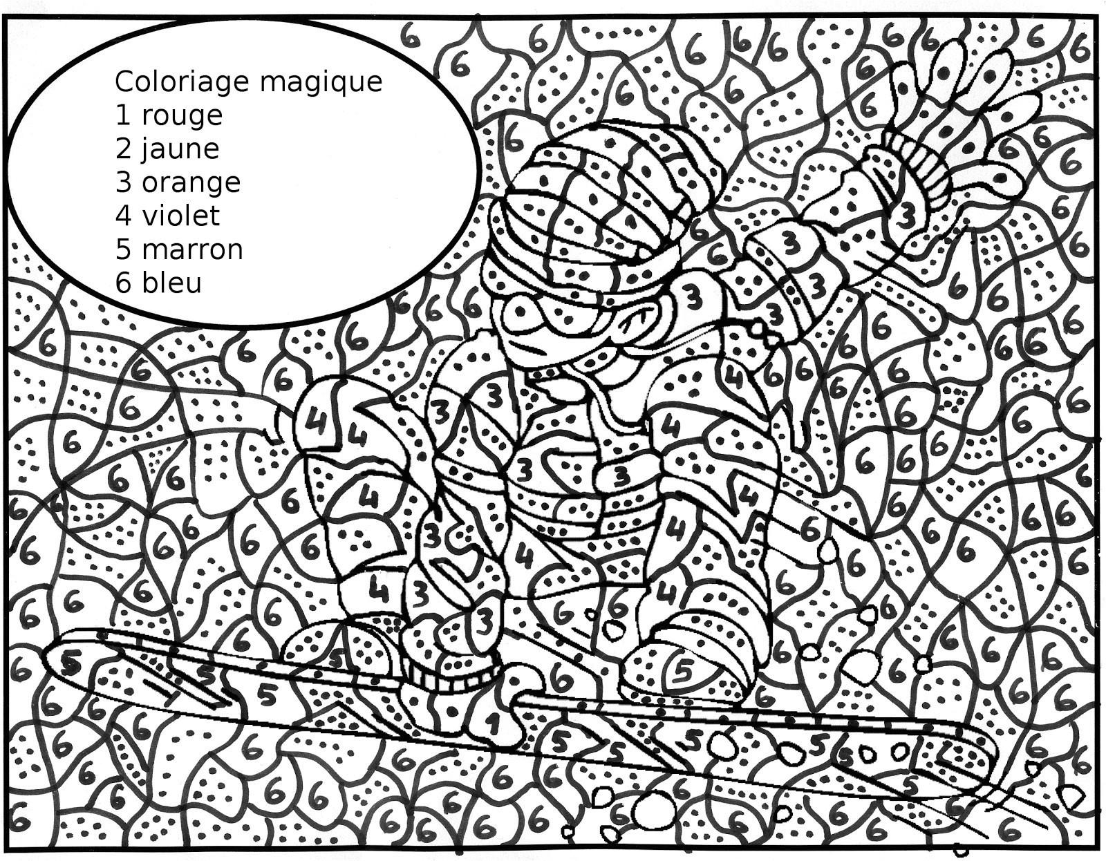 Coloriage Magique A Imprimer Dur | Coloriages À Imprimer tout Coloriage Magique Dur