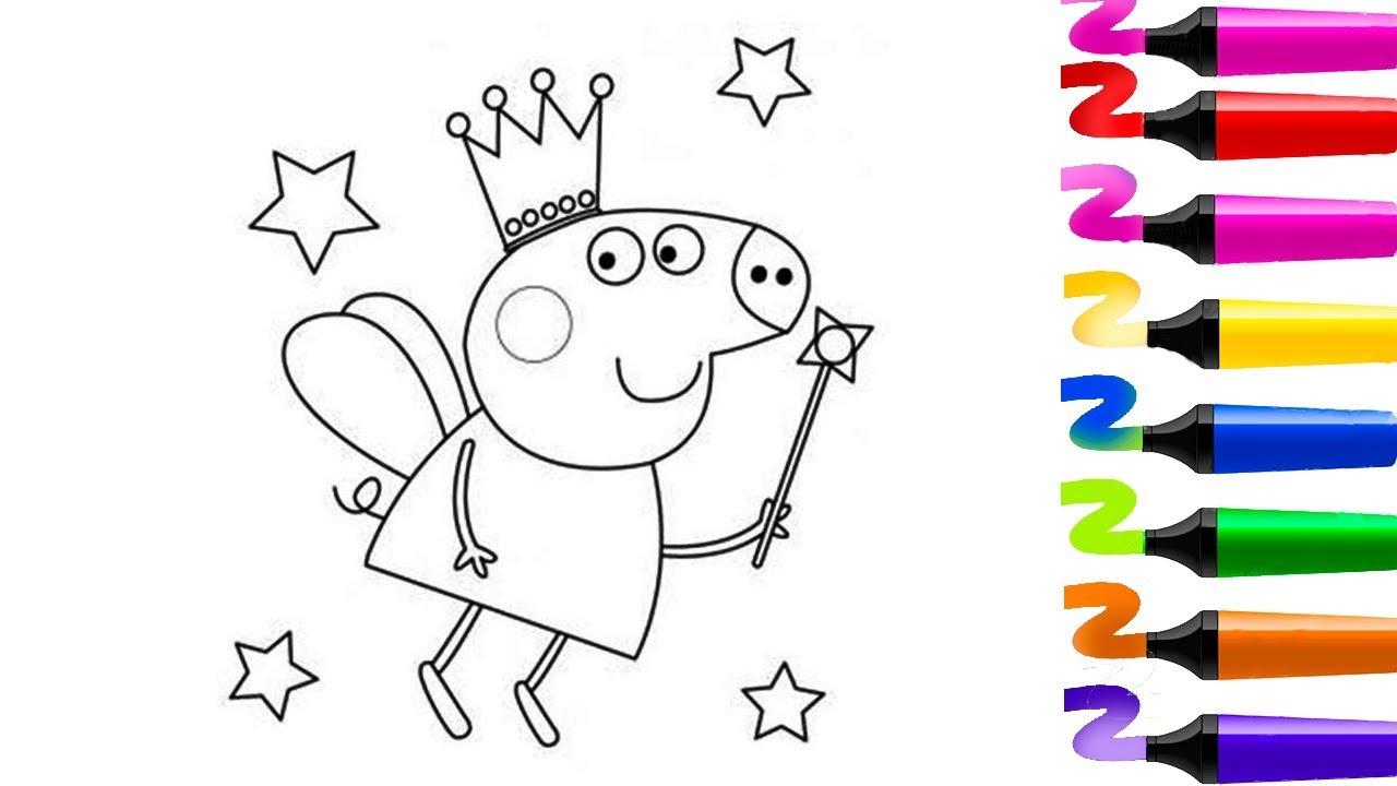 Coloriage Magique! Coloriage Peppa Pig! Peppa Pig Princesse intérieur Peppa Pig A Colorier