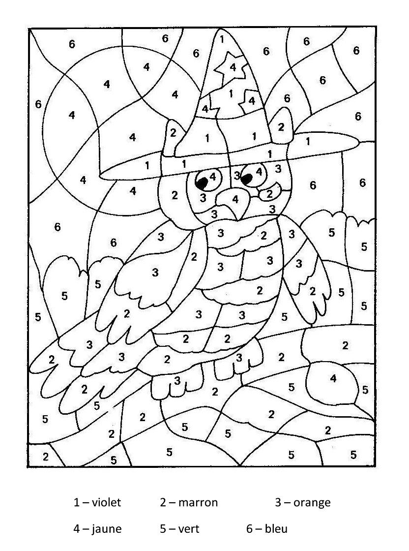 Coloriage Magique - Coloriages Pour Enfants destiné Coloriage Codé Maternelle