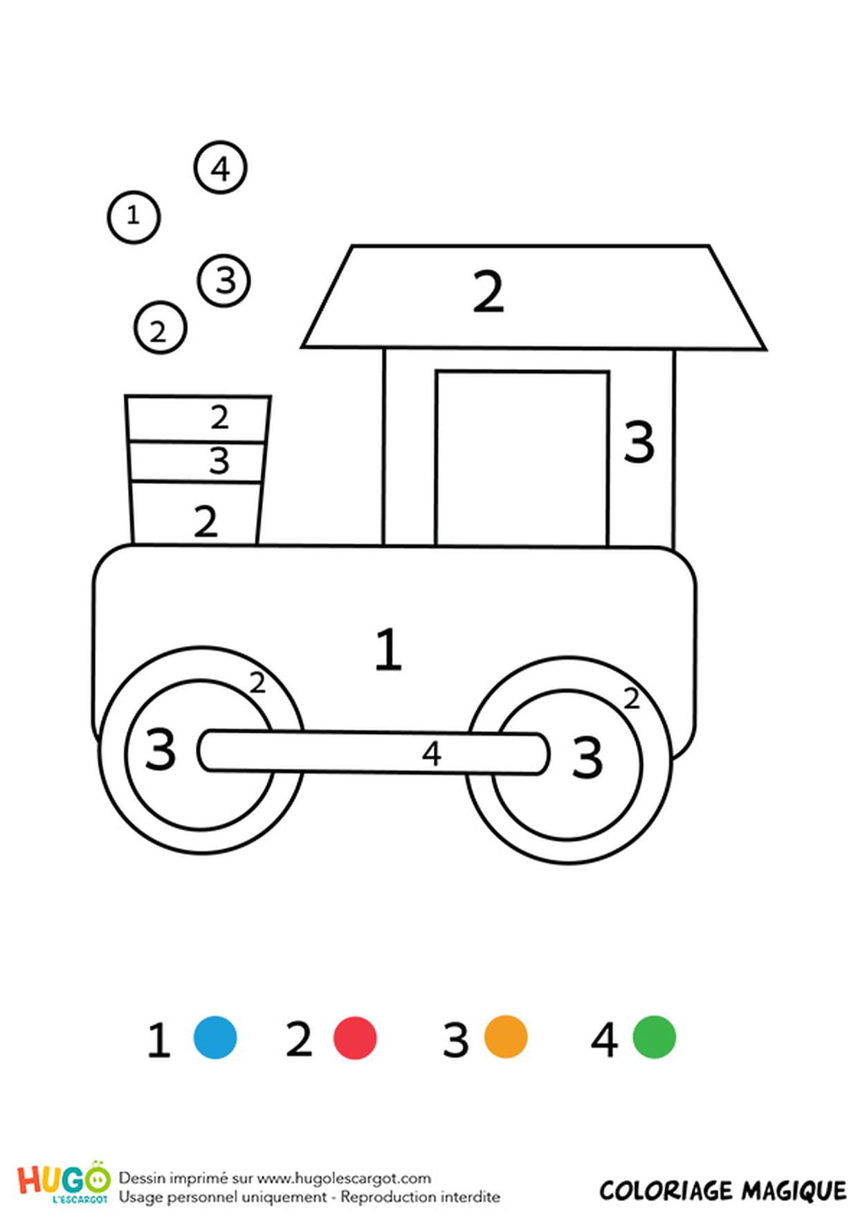Coloriage Magique Cp : Une Locomotive dedans Coloriage Magique Alphabet Cp