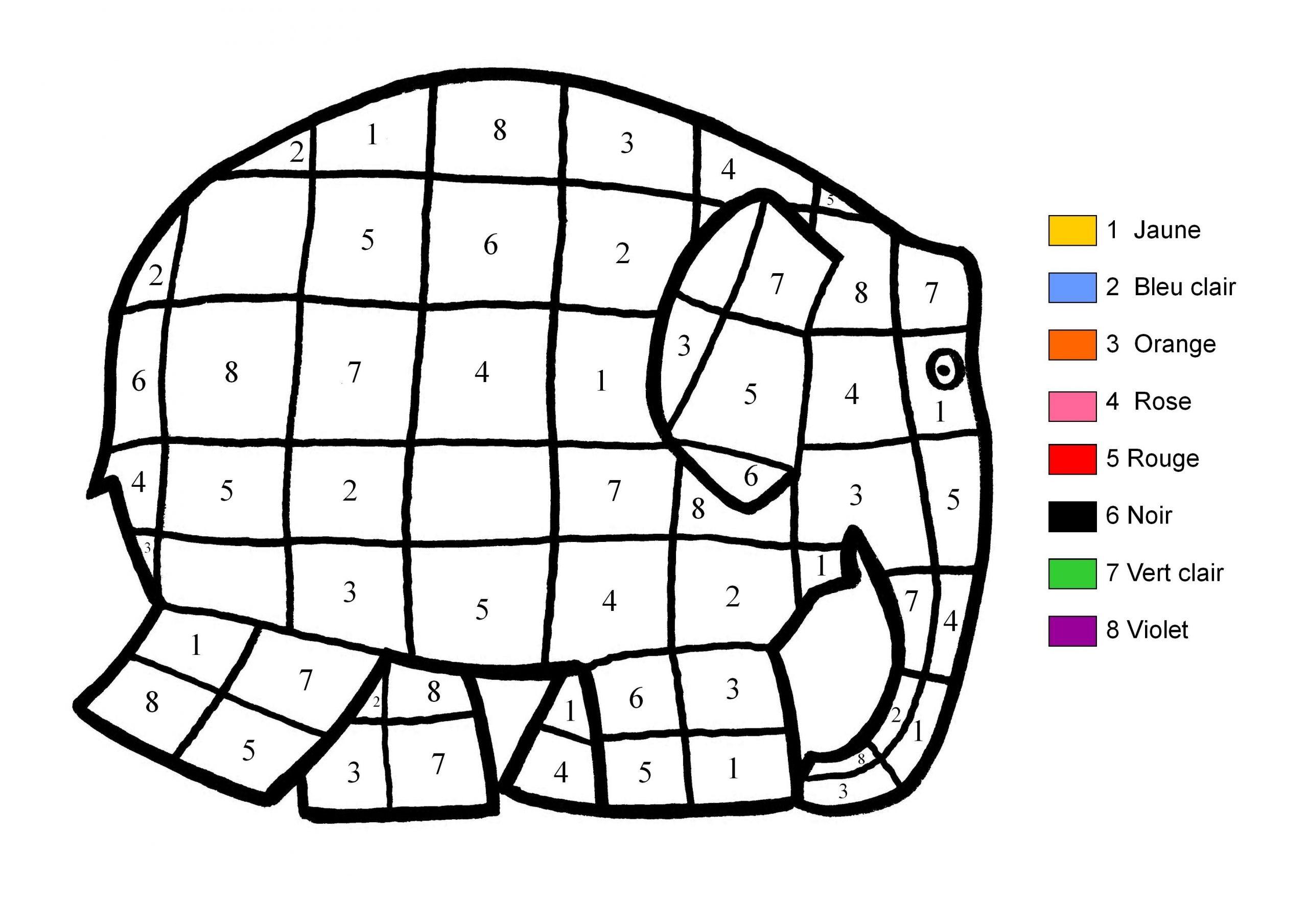 Coloriage Magique encequiconcerne Coloriage Codé Moyenne Section