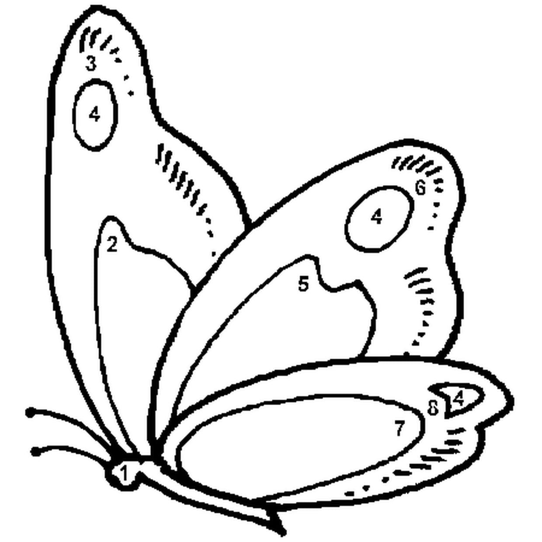 Coloriage Magique Facile Papillon En Ligne Gratuit À Imprimer avec Papillon À Dessiner