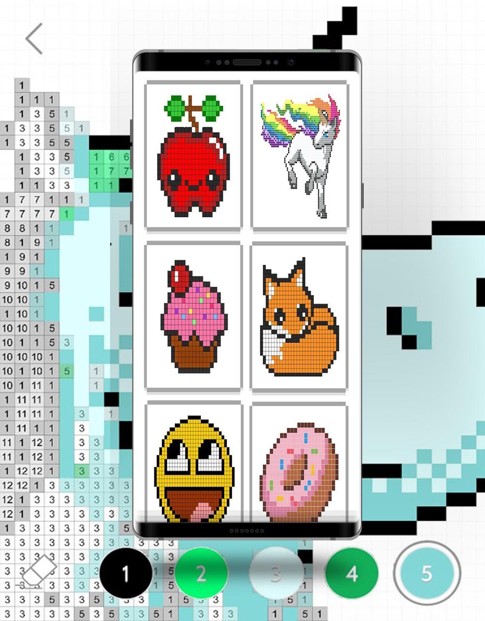 Coloriage Magique Gratuit - Color Pixel By Number For tout Coloriage Pixel Gratuit