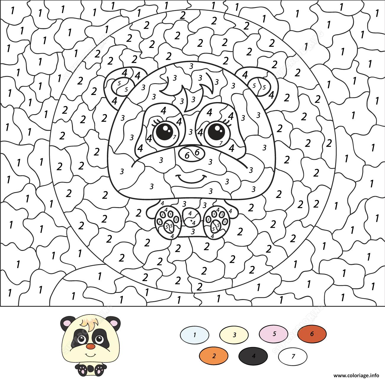 """Coloriage Magique """" Le Panda"""" serapportantà Panda À Colorier"""